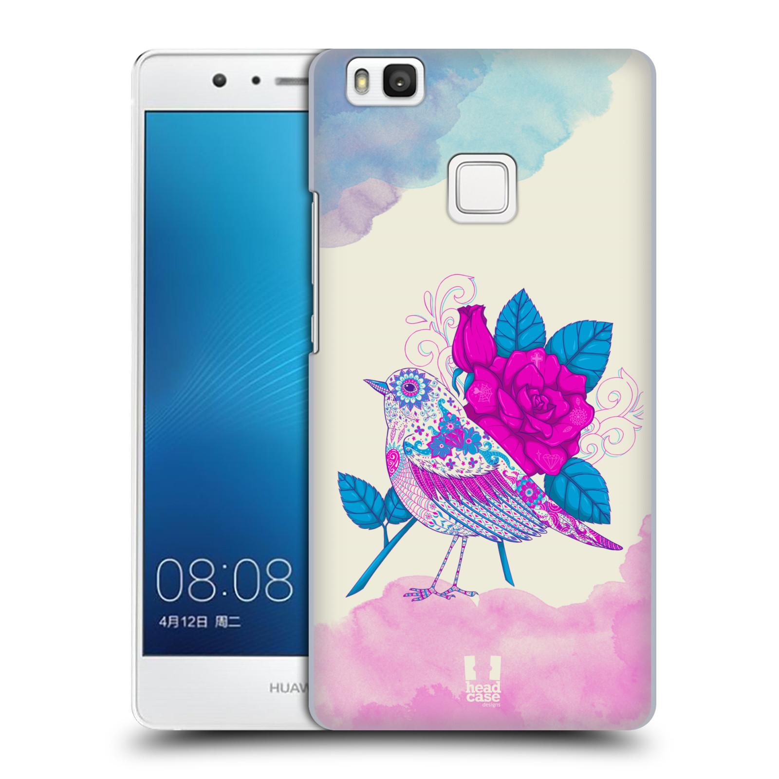Plastové pouzdro na mobil Huawei P9 Lite HEAD CASE PTÁČEK FUCHSIA