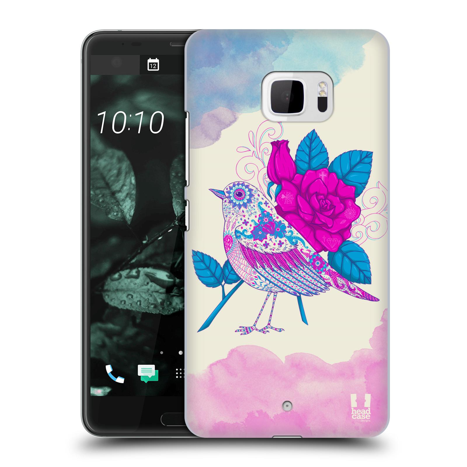Plastové pouzdro na mobil HTC U Ultra Head Case - PTÁČEK FUCHSIA (Plastový kryt či obal na mobilní telefon HTC U Ultra (99HALT015-00))