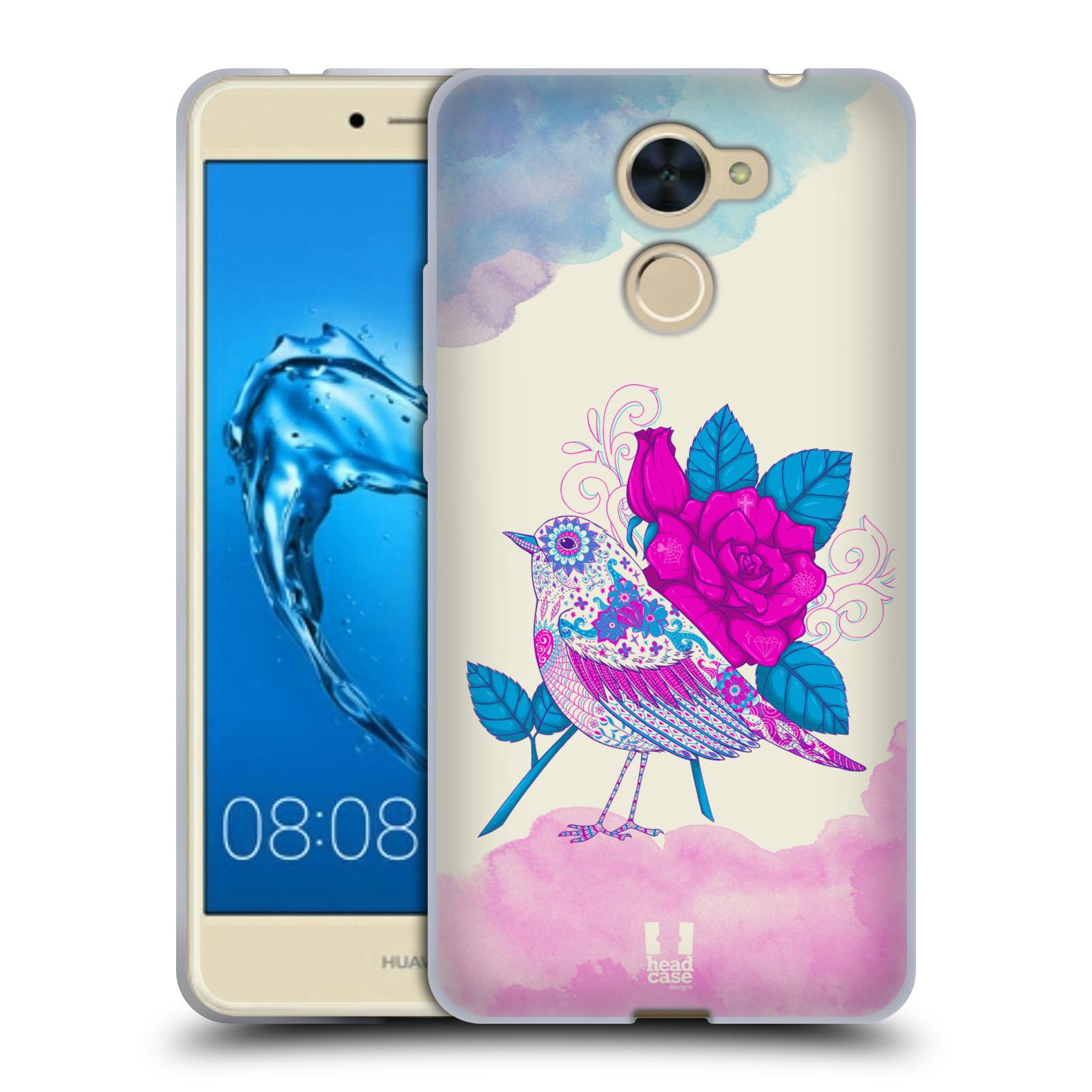 Silikonové pouzdro na mobil Huawei Y7 - Head Case - PTÁČEK FUCHSIA