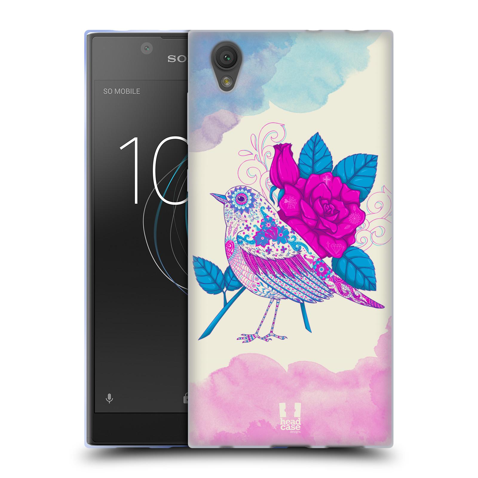 Silikonové pouzdro na mobil Sony Xperia L1 - Head Case - PTÁČEK FUCHSIA