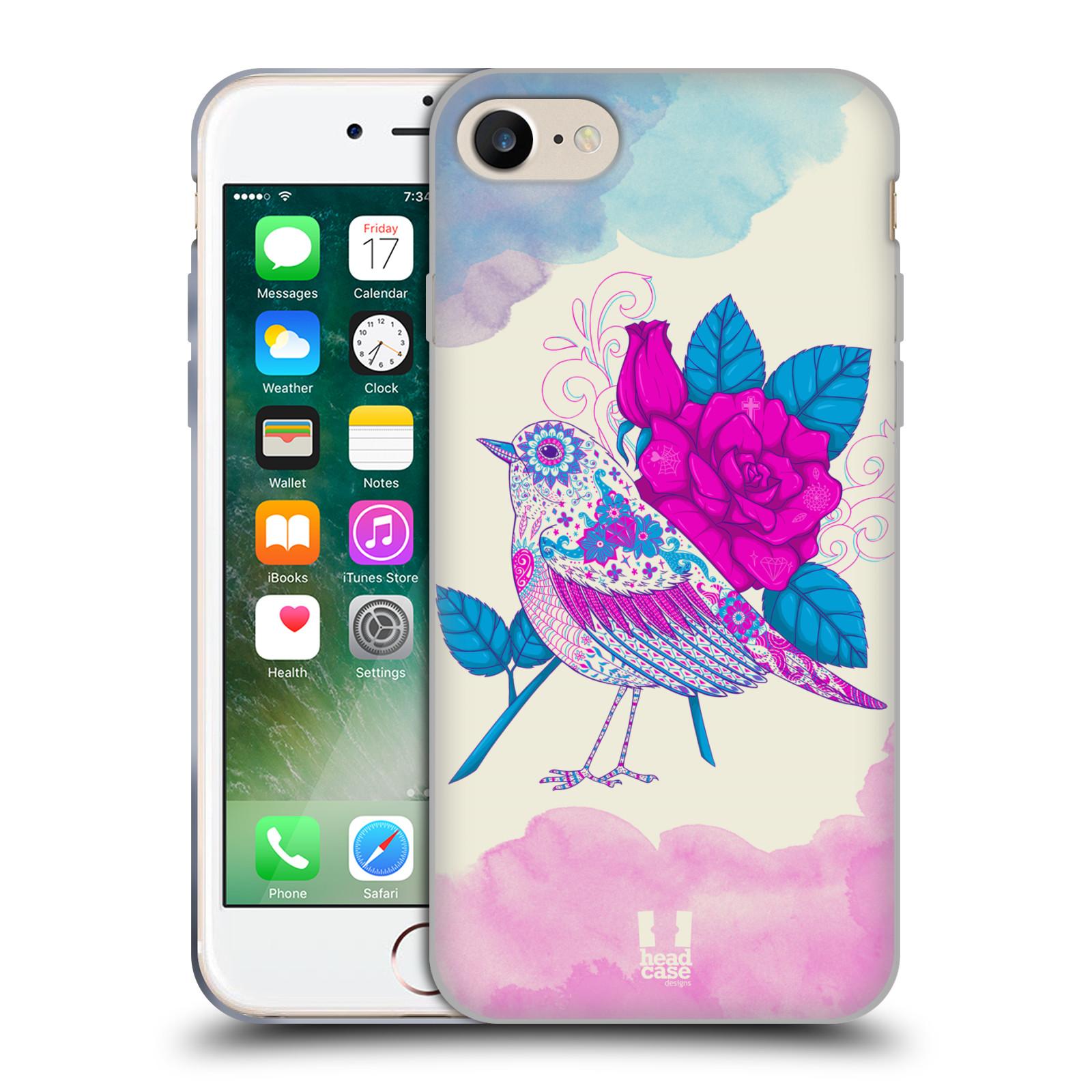 Silikonové pouzdro na mobil Apple iPhone 8 - Head Case - PTÁČEK FUCHSIA