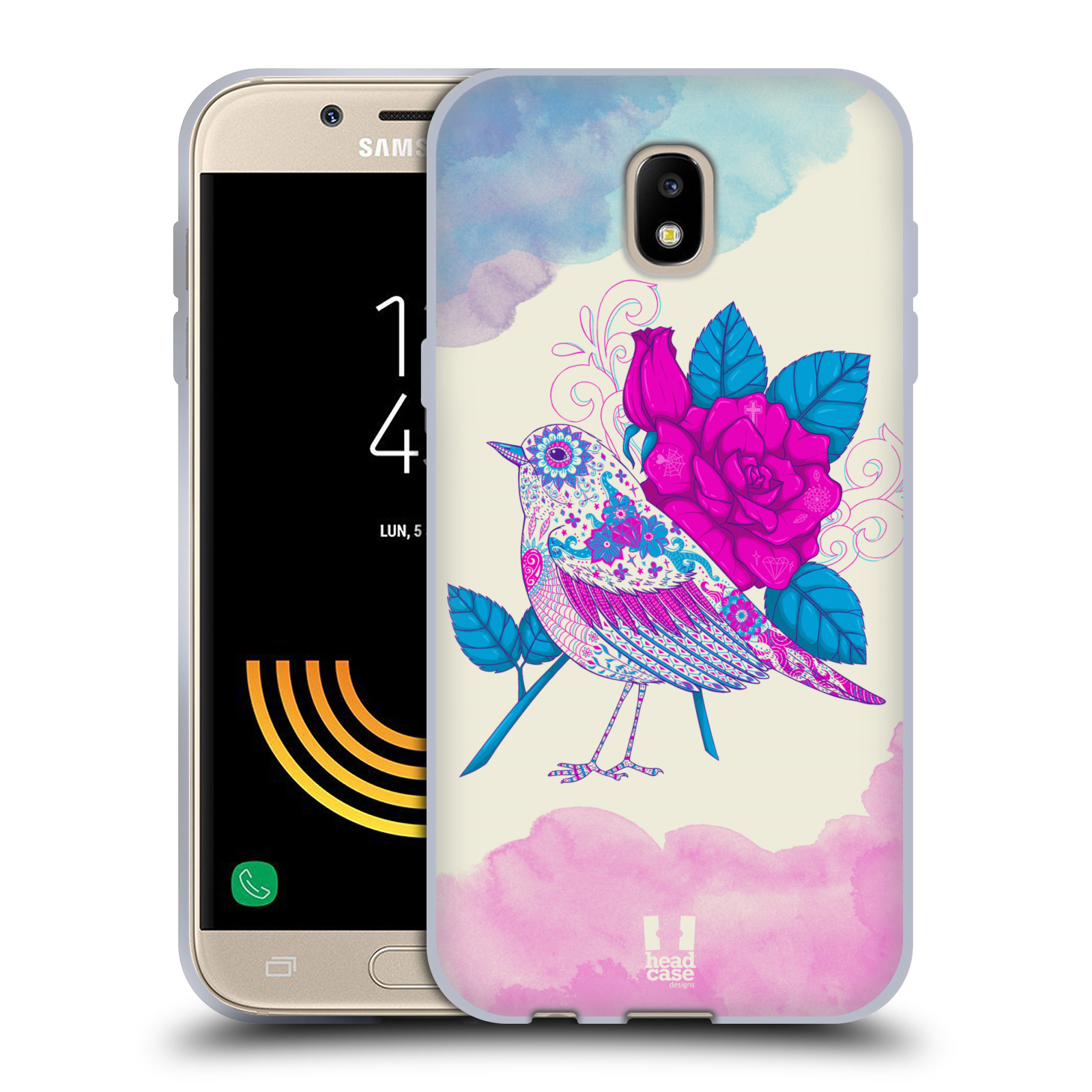 Silikonové pouzdro na mobil Samsung Galaxy J5 (2017) - Head Case - PTÁČEK FUCHSIA