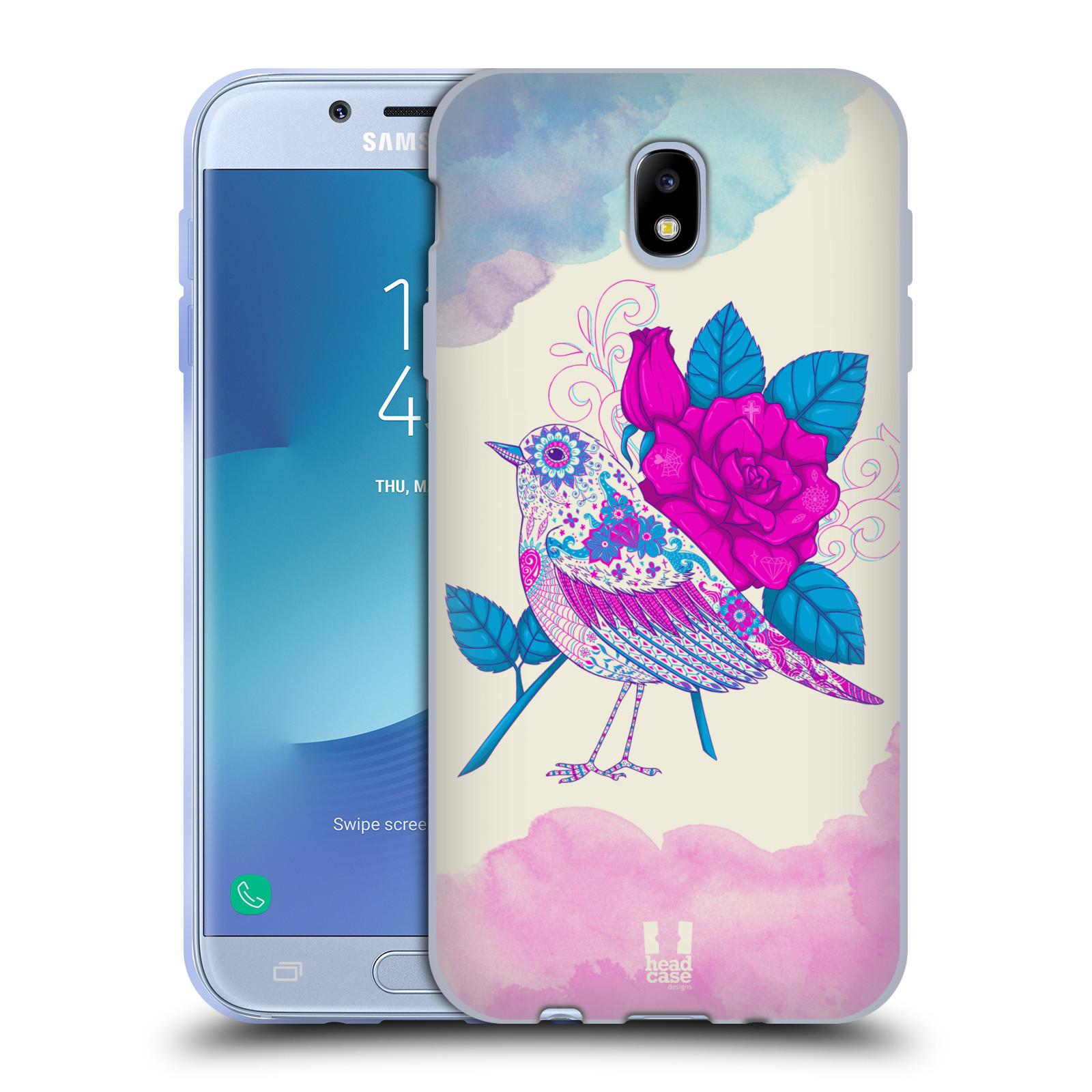 Silikonové pouzdro na mobil Samsung Galaxy J7 (2017) - Head Case - PTÁČEK FUCHSIA
