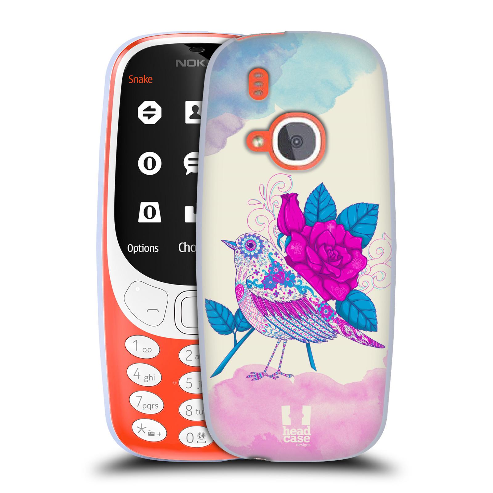 Silikonové pouzdro na mobil Nokia 3310 - Head Case - PTÁČEK FUCHSIA