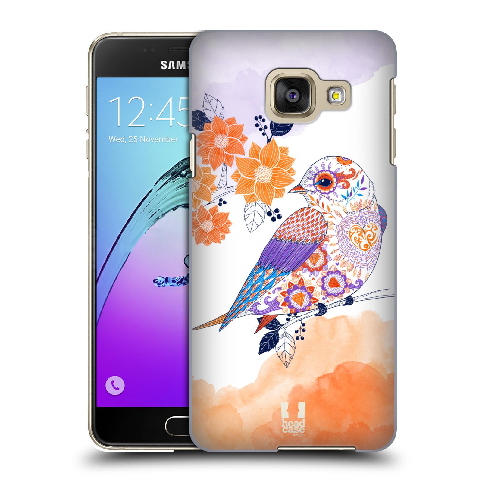 Plastové pouzdro na mobil Samsung Galaxy A3 (2016) HEAD CASE PTÁČEK TANGERINE