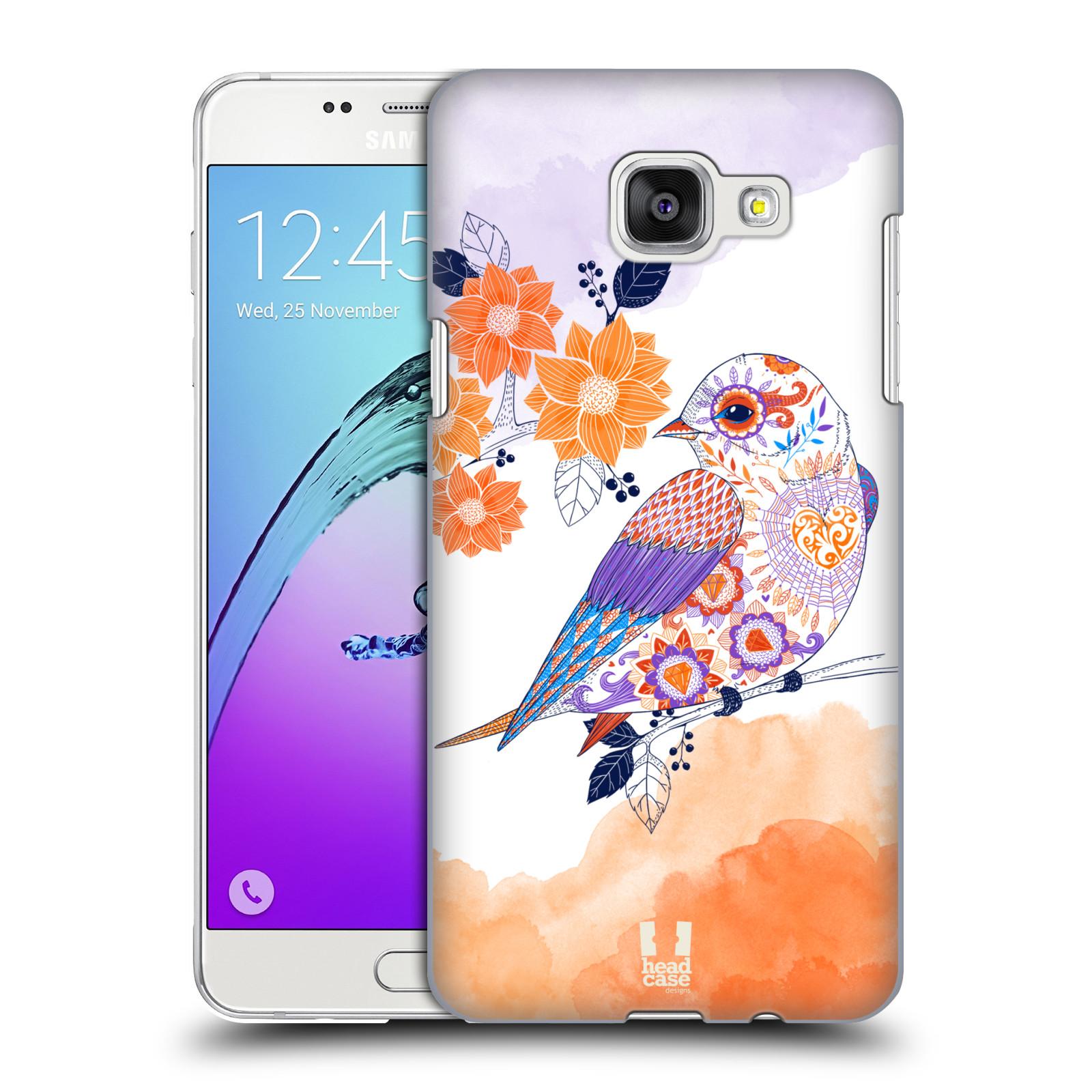Plastové pouzdro na mobil Samsung Galaxy A5 (2016) HEAD CASE PTÁČEK TANGERINE