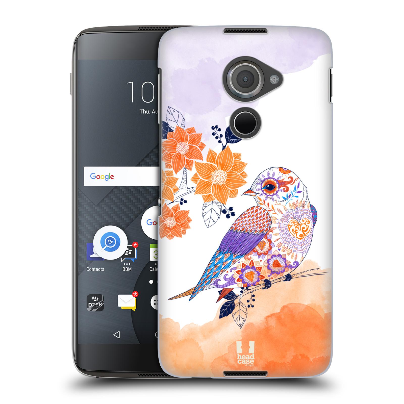 Plastové pouzdro na mobil Blackberry DTEK60 (Argon) - Head Case PTÁČEK TANGERINE