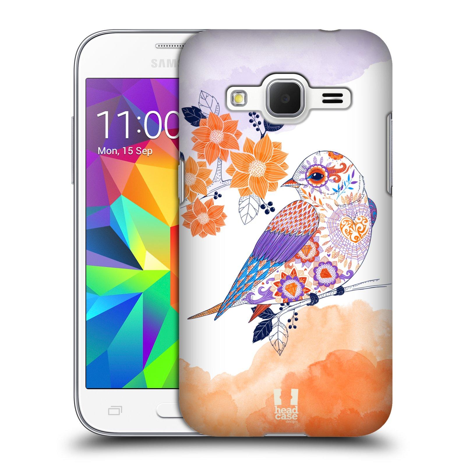 Plastové pouzdro na mobil Samsung Galaxy Core Prime LTE HEAD CASE PTÁČEK TANGERINE