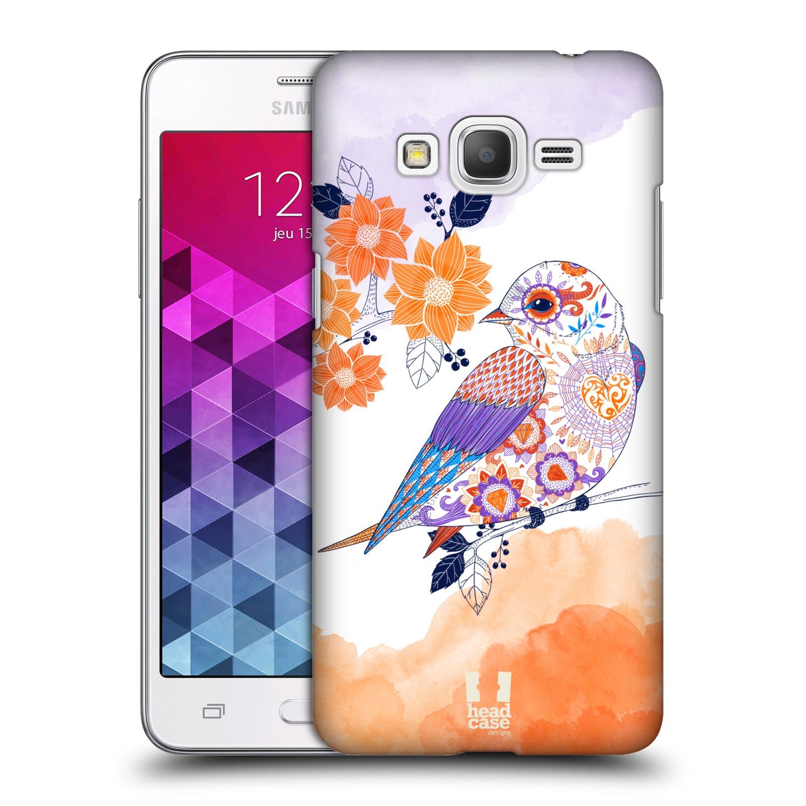 Plastové pouzdro na mobil Samsung Galaxy Grand Prime VE HEAD CASE PTÁČEK TANGERINE