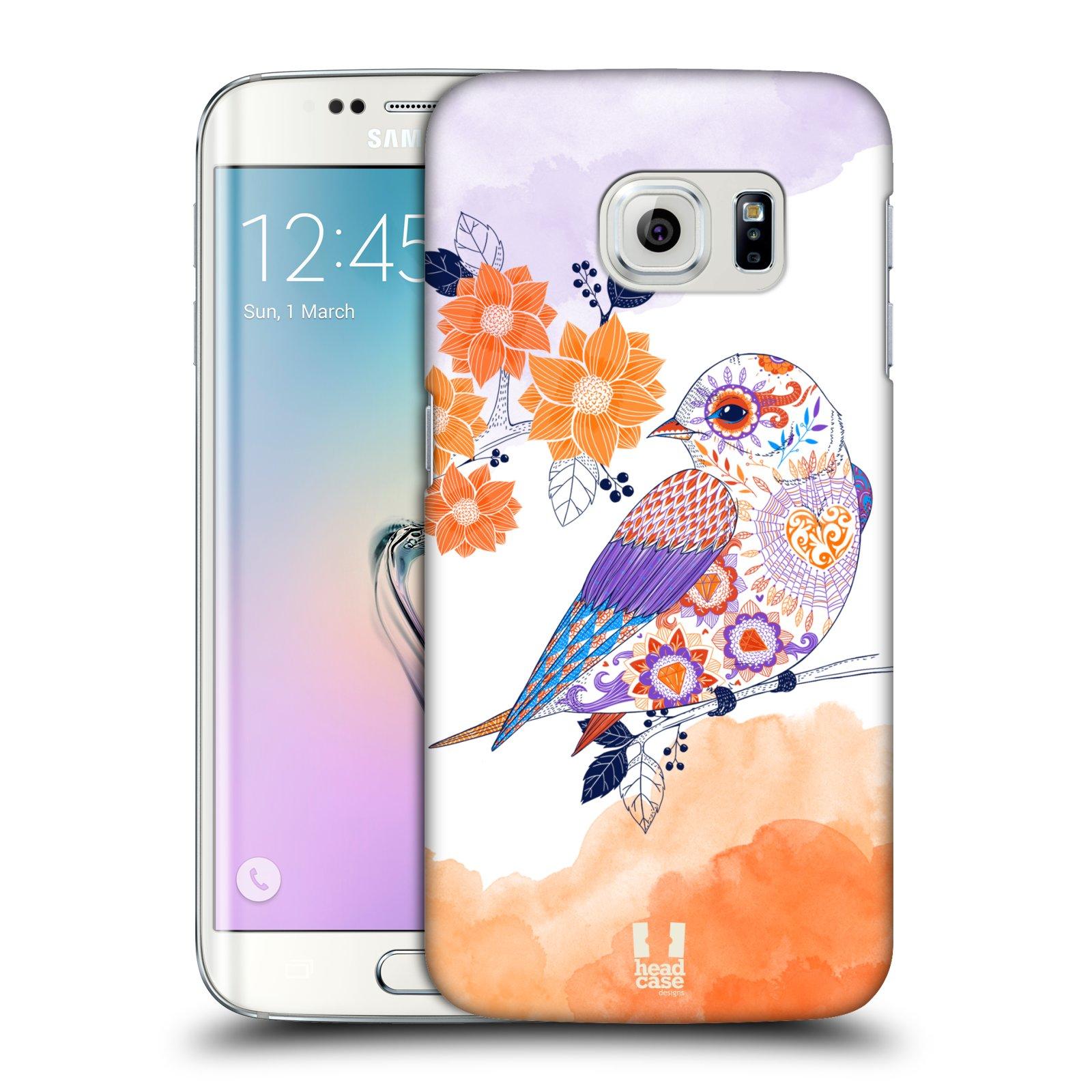 Plastové pouzdro na mobil Samsung Galaxy S6 Edge HEAD CASE PTÁČEK TANGERINE