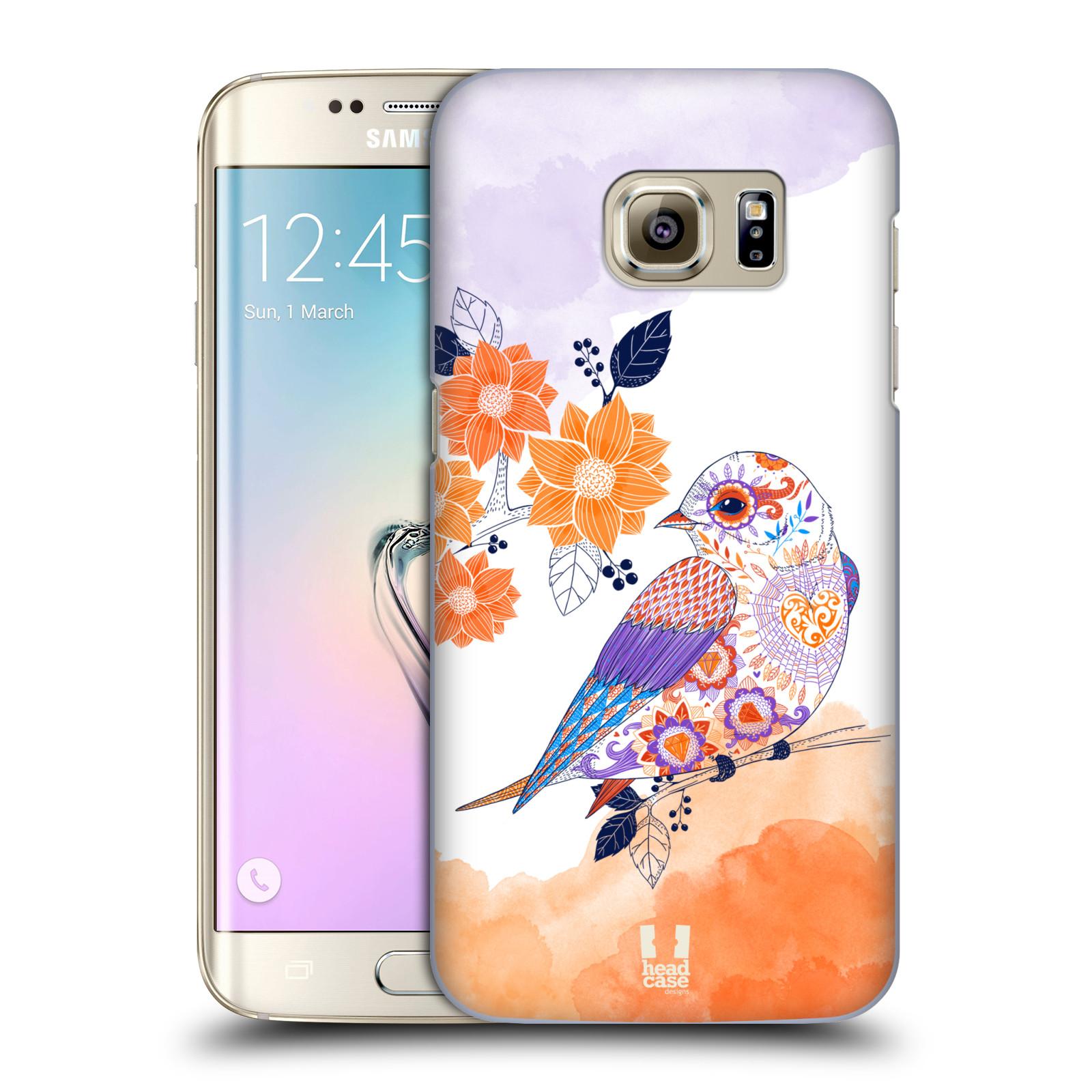 Plastové pouzdro na mobil Samsung Galaxy S7 Edge HEAD CASE PTÁČEK TANGERINE
