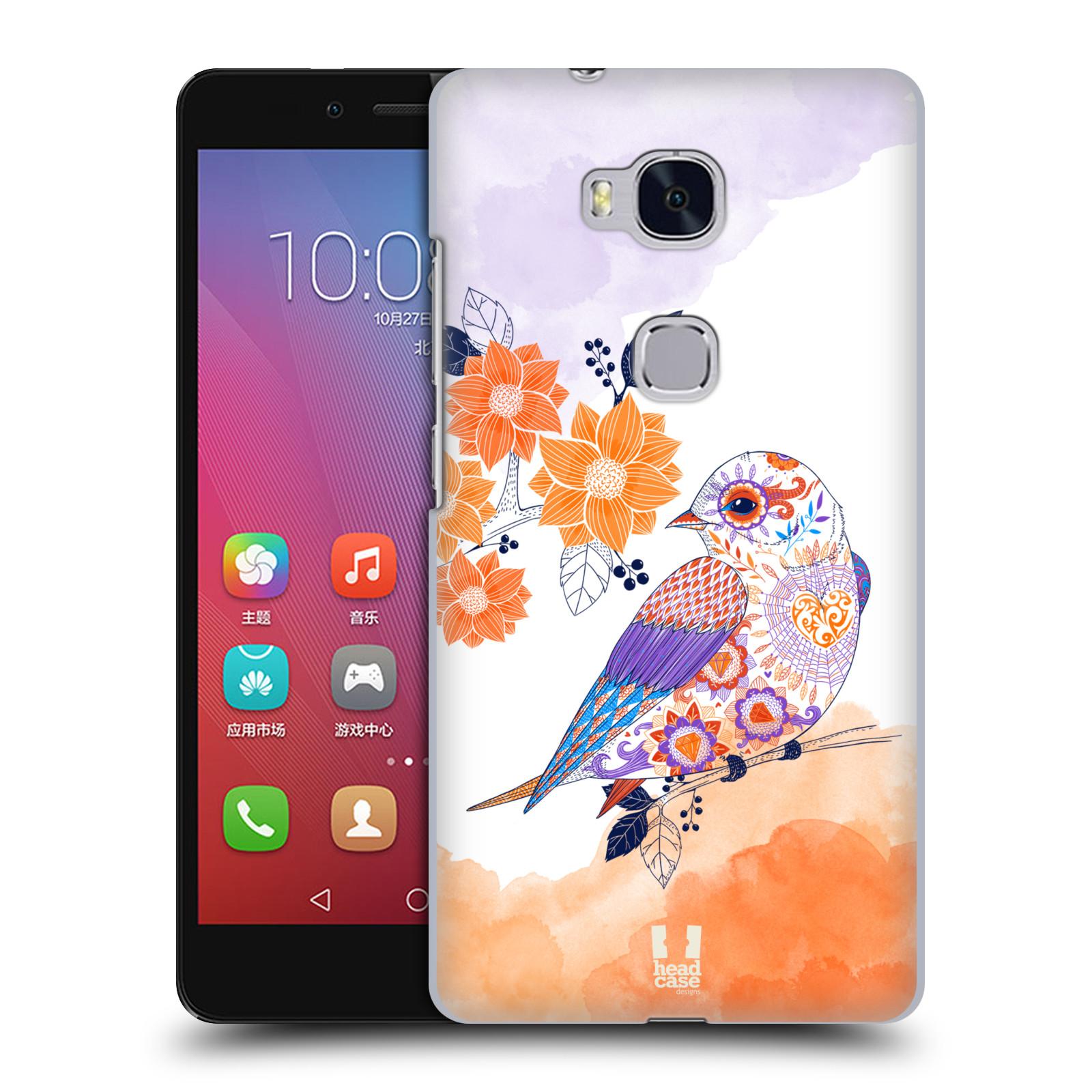 Plastové pouzdro na mobil Honor 5X HEAD CASE PTÁČEK TANGERINE