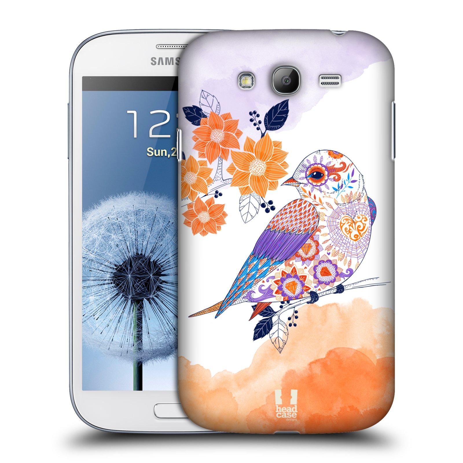 Plastové pouzdro na mobil Samsung Galaxy Grand Neo Plus HEAD CASE PTÁČEK TANGERINE
