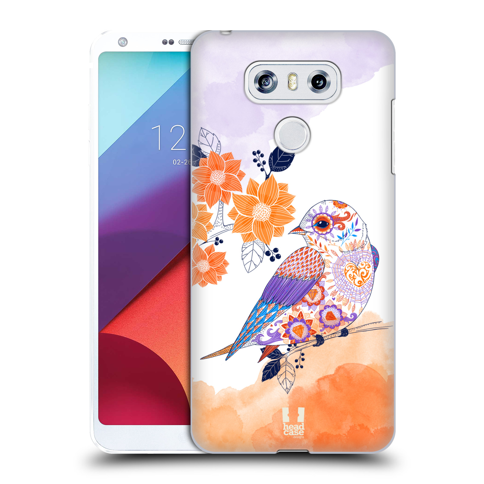Plastové pouzdro na mobil LG G6 - Head Case PTÁČEK TANGERINE