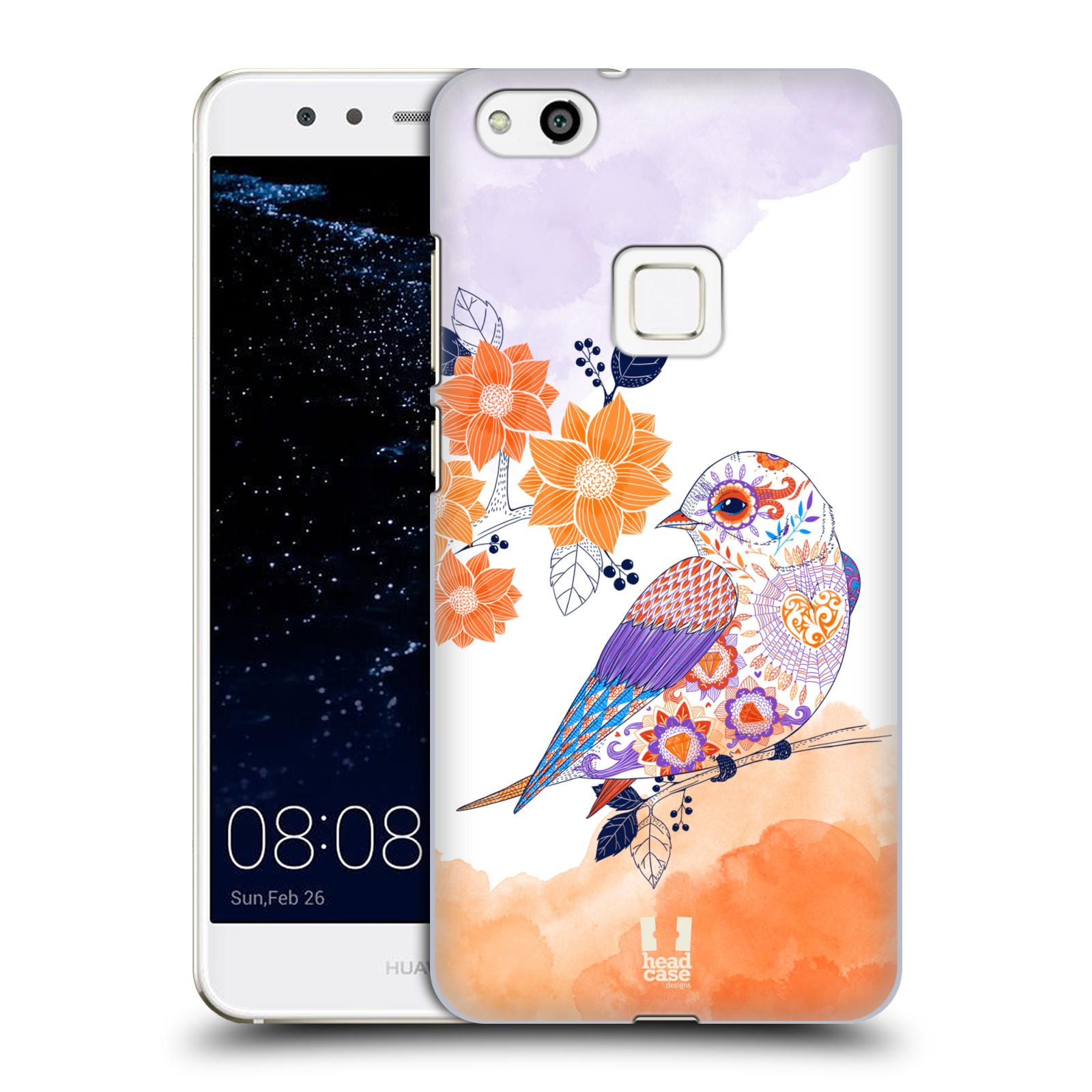 Plastové pouzdro na mobil Huawei P10 Lite Head Case - PTÁČEK TANGERINE (Plastový kryt či obal na mobilní telefon Huawei P10 Lite Dual SIM (LX1/LX1A))