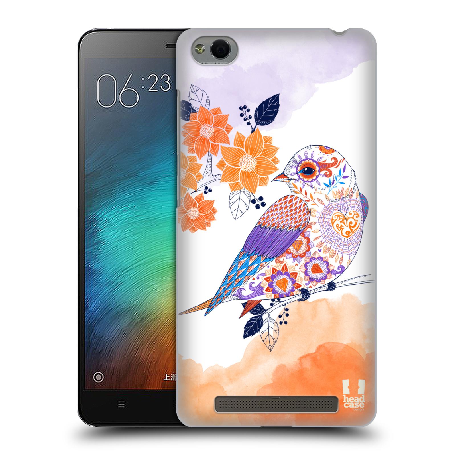 Plastové pouzdro na mobil Xiaomi Redmi 3 HEAD CASE PTÁČEK TANGERINE