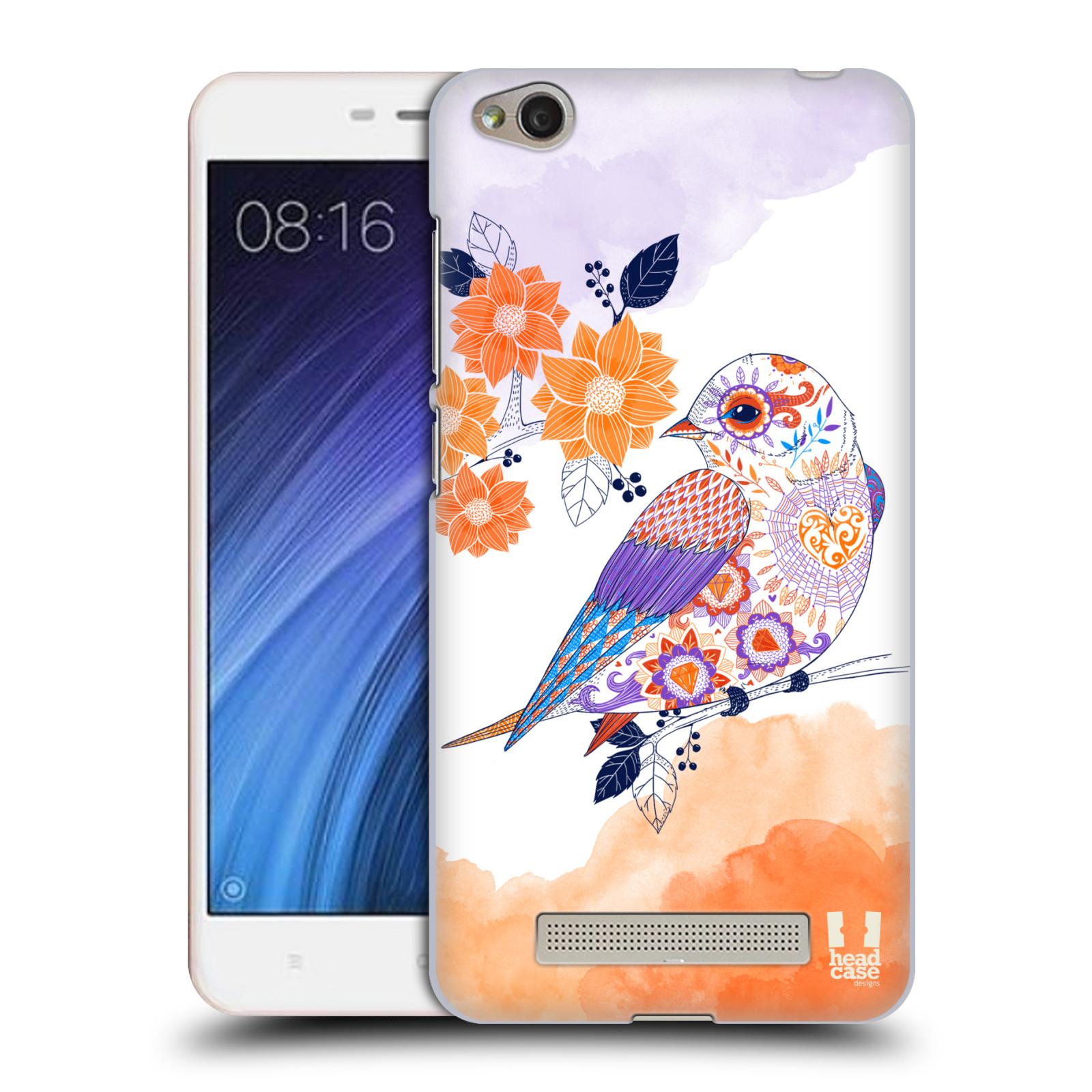 Plastové pouzdro na mobil Xiaomi Redmi 4A HEAD CASE PTÁČEK TANGERINE