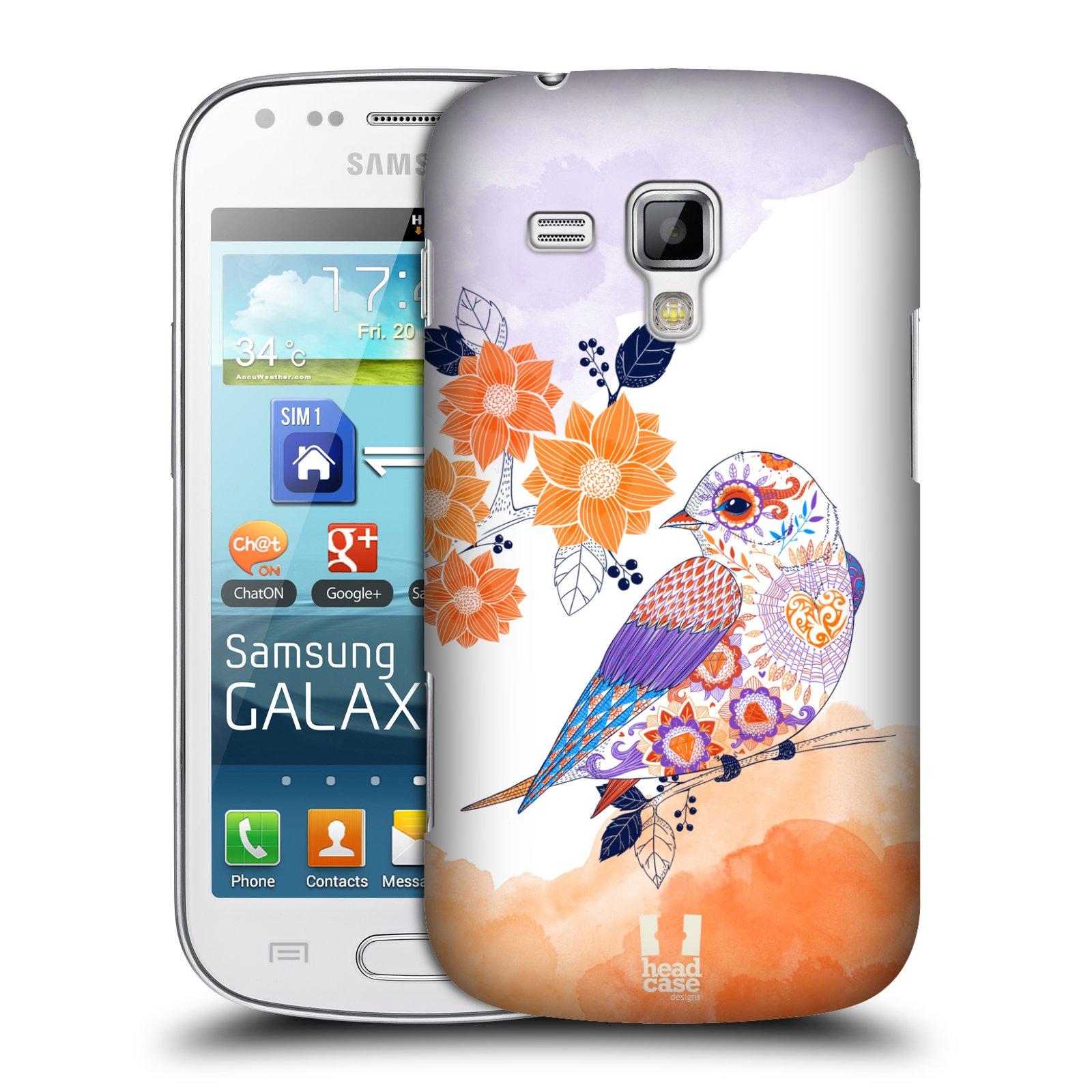 Plastové pouzdro na mobil Samsung Galaxy Trend Plus HEAD CASE PTÁČEK TANGERINE