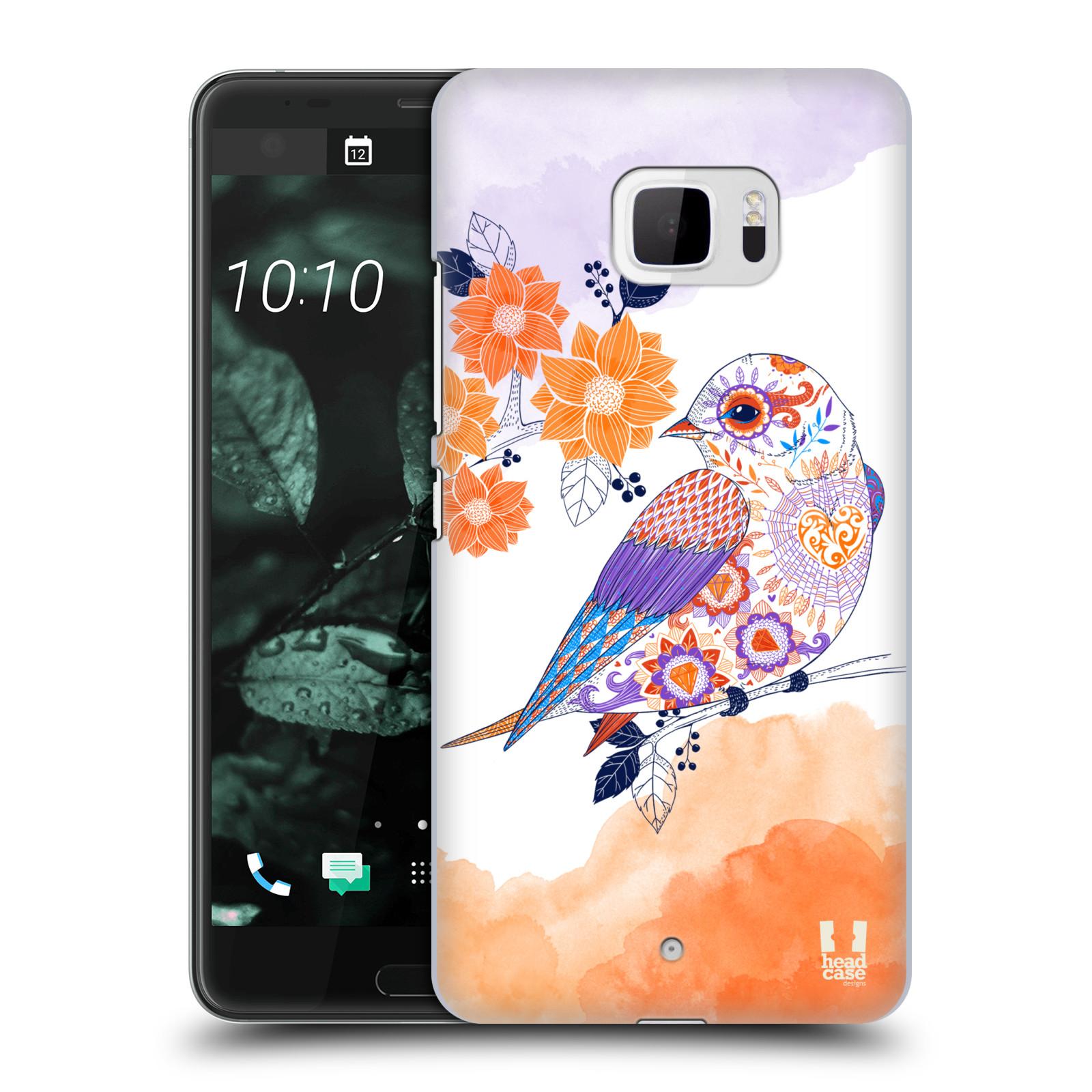 Plastové pouzdro na mobil HTC U Ultra Head Case - PTÁČEK TANGERINE (Plastový kryt či obal na mobilní telefon HTC U Ultra (99HALT015-00))