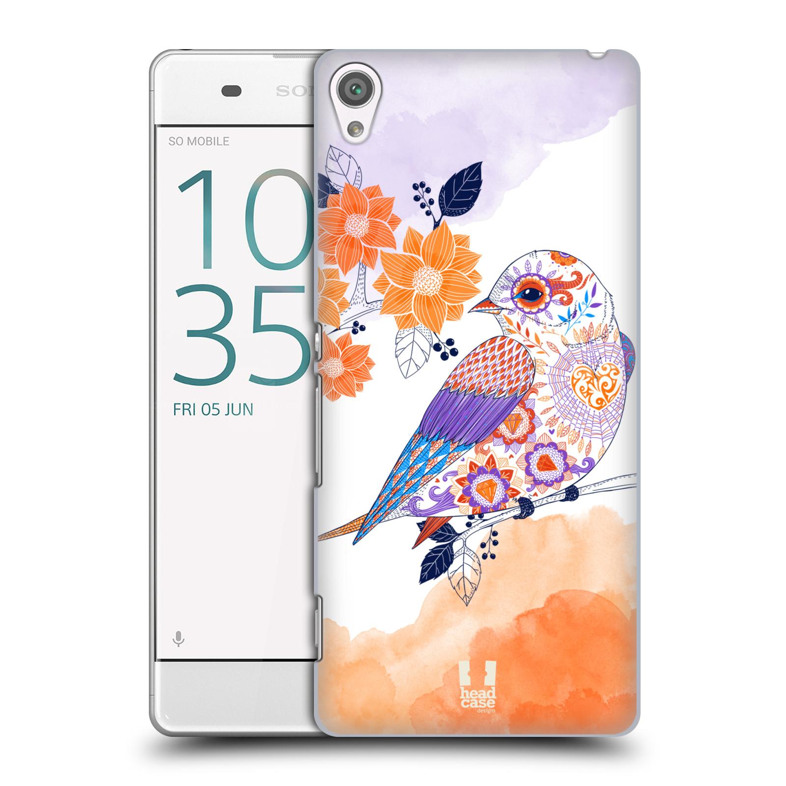 Plastové pouzdro na mobil Sony Xperia XA HEAD CASE PTÁČEK TANGERINE
