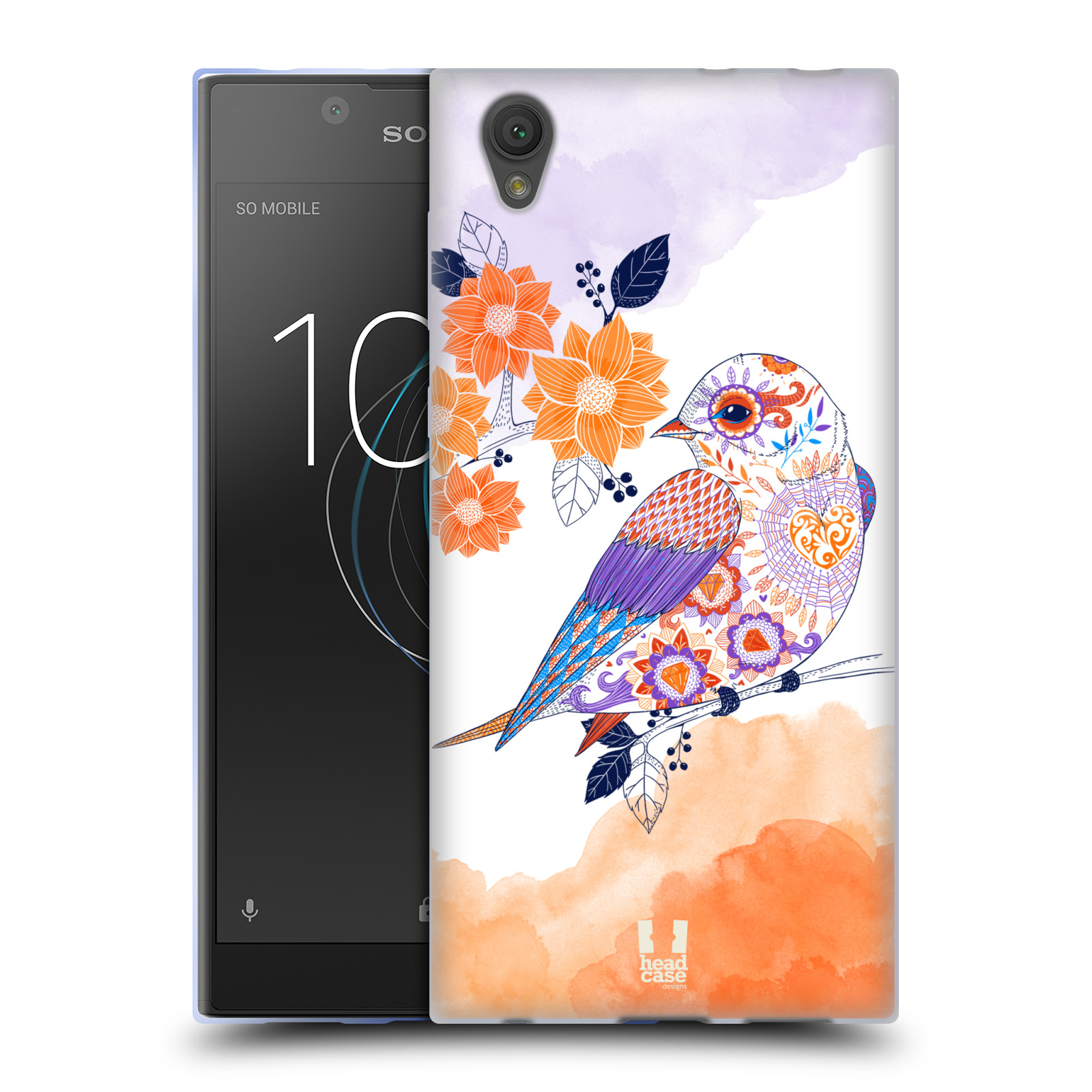 Silikonové pouzdro na mobil Sony Xperia L1 - Head Case - PTÁČEK TANGERINE