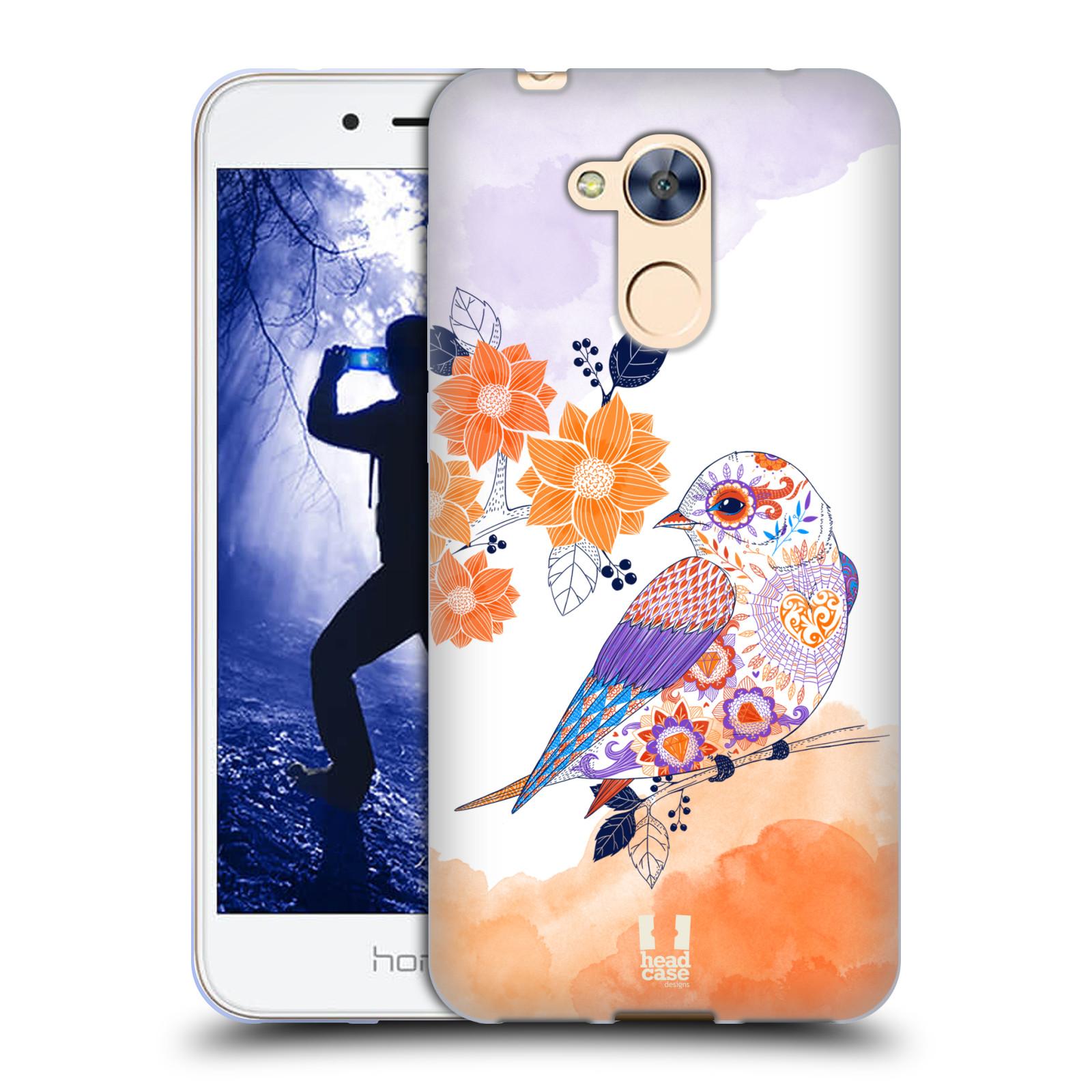 Silikonové pouzdro na mobil Honor 6A - Head Case - PTÁČEK TANGERINE