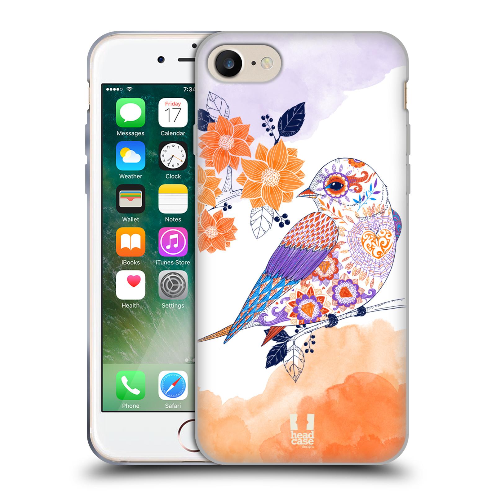 Silikonové pouzdro na mobil Apple iPhone 8 - Head Case - PTÁČEK TANGERINE