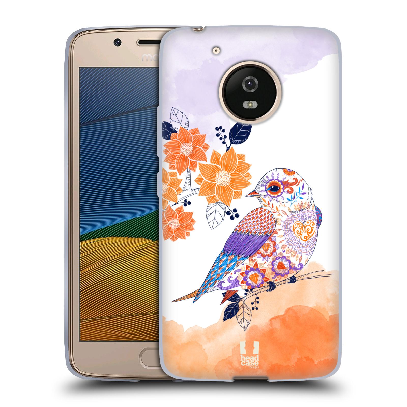 Silikonové pouzdro na mobil Lenovo Moto G5 - Head Case PTÁČEK TANGERINE