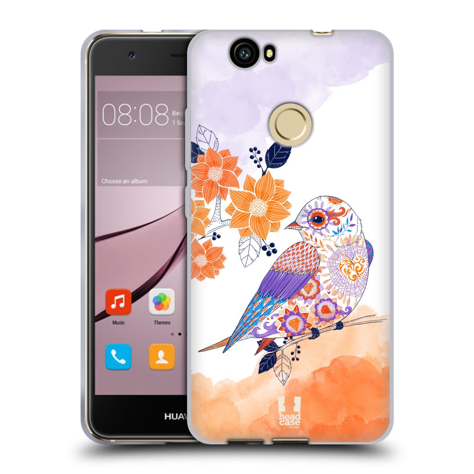 Silikonové pouzdro na mobil Huawei Nova - Head Case - PTÁČEK TANGERINE