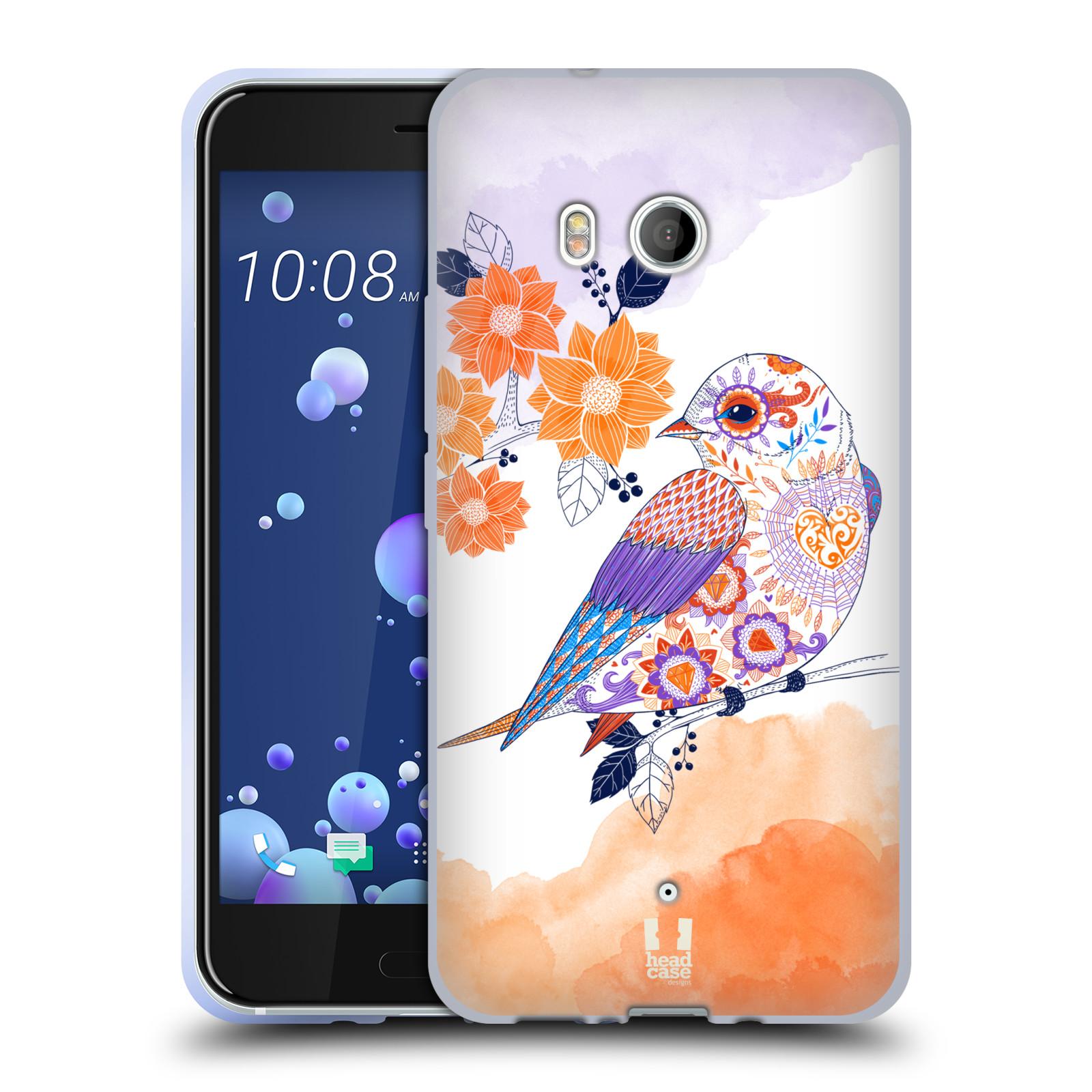 Silikonové pouzdro na mobil HTC U11 - Head Case - PTÁČEK TANGERINE