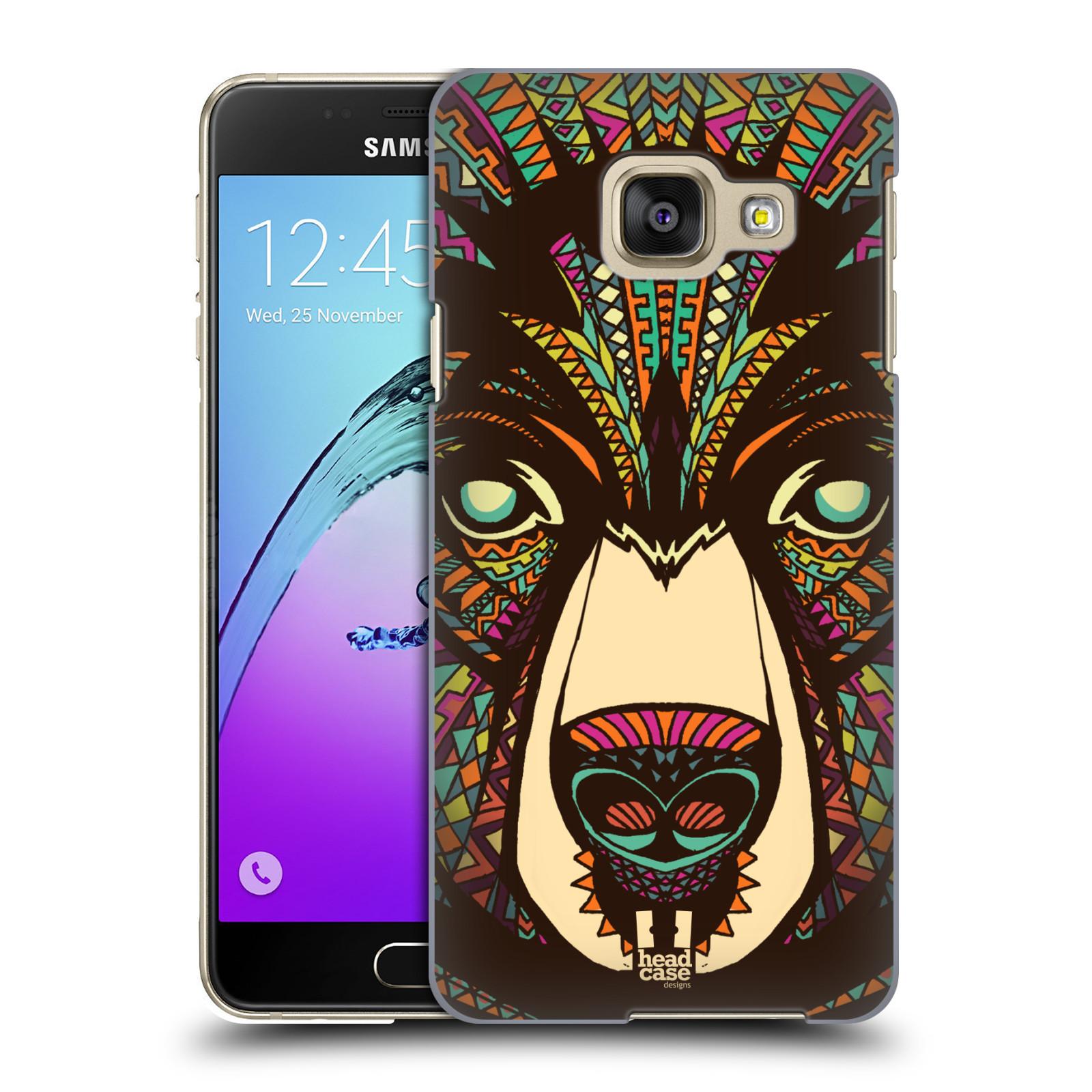 Plastové pouzdro na mobil Samsung Galaxy A3 (2016) HEAD CASE AZTEC MEDVĚD