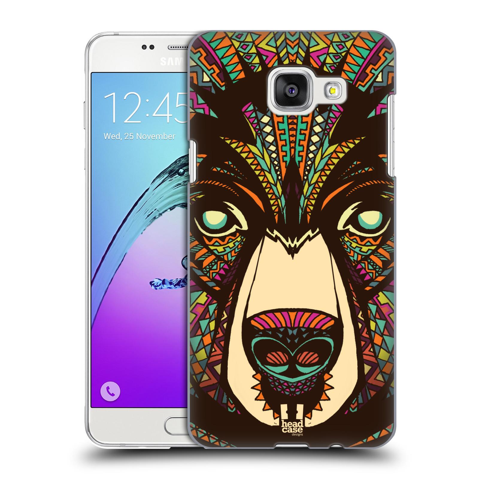 Plastové pouzdro na mobil Samsung Galaxy A5 (2016) HEAD CASE AZTEC MEDVĚD