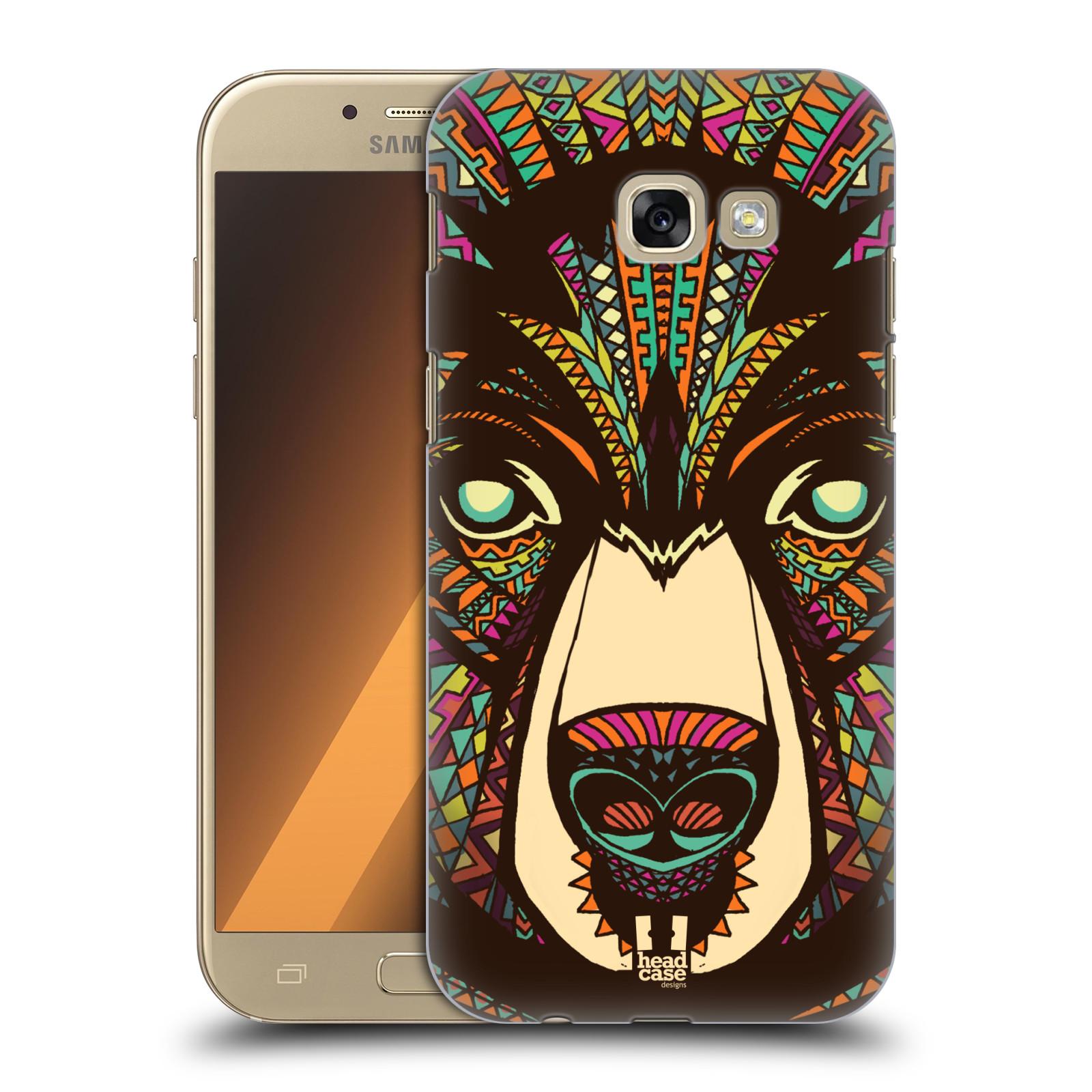 Plastové pouzdro na mobil Samsung Galaxy A5 (2017) HEAD CASE AZTEC MEDVĚD