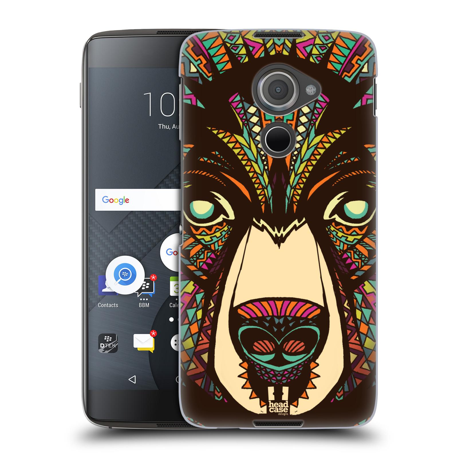 Plastové pouzdro na mobil Blackberry DTEK60 (Argon) - Head Case AZTEC MEDVĚD