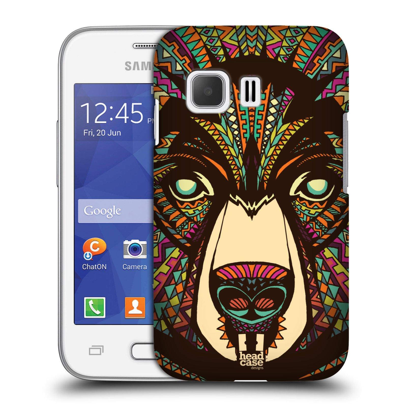 Plastové pouzdro na mobil Samsung Galaxy Young 2 HEAD CASE AZTEC MEDVĚD (Kryt či obal na mobilní telefon Samsung Galaxy Young 2 SM-G130)