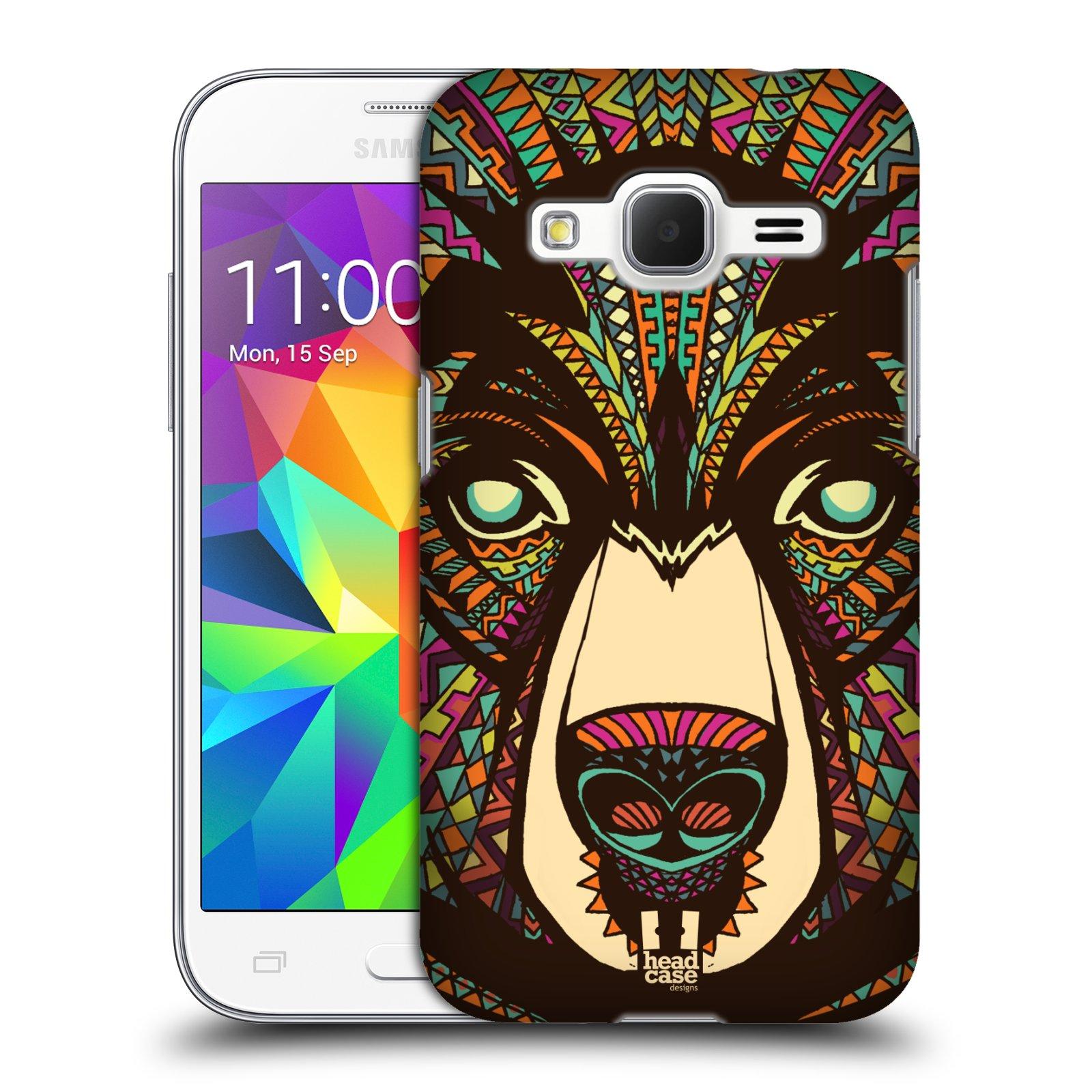 Plastové pouzdro na mobil Samsung Galaxy Core Prime VE HEAD CASE AZTEC MEDVĚD (Kryt či obal na mobilní telefon Samsung Galaxy Core Prime LTE VE SM-G361F)