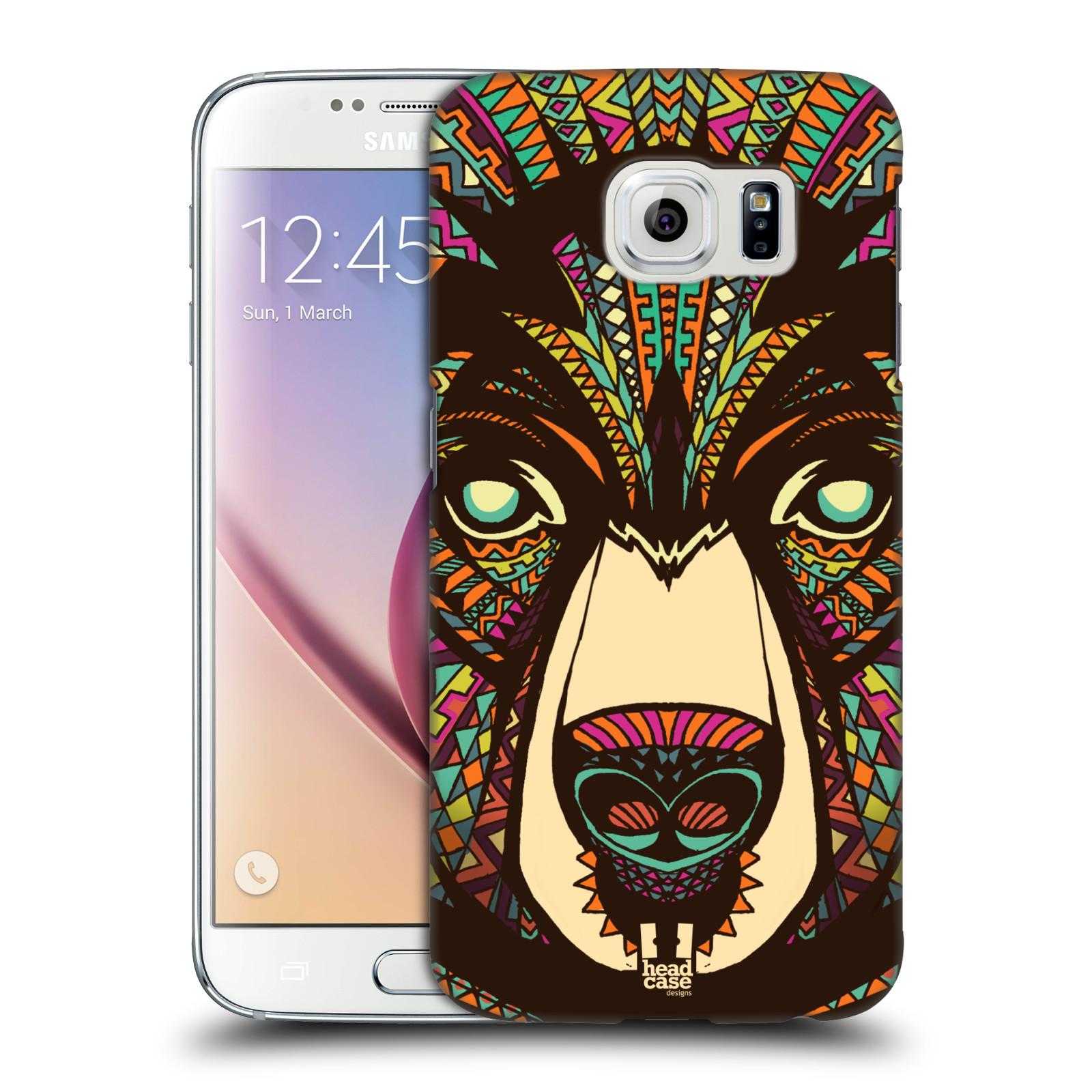 Plastové pouzdro na mobil Samsung Galaxy S6 HEAD CASE AZTEC MEDVĚD