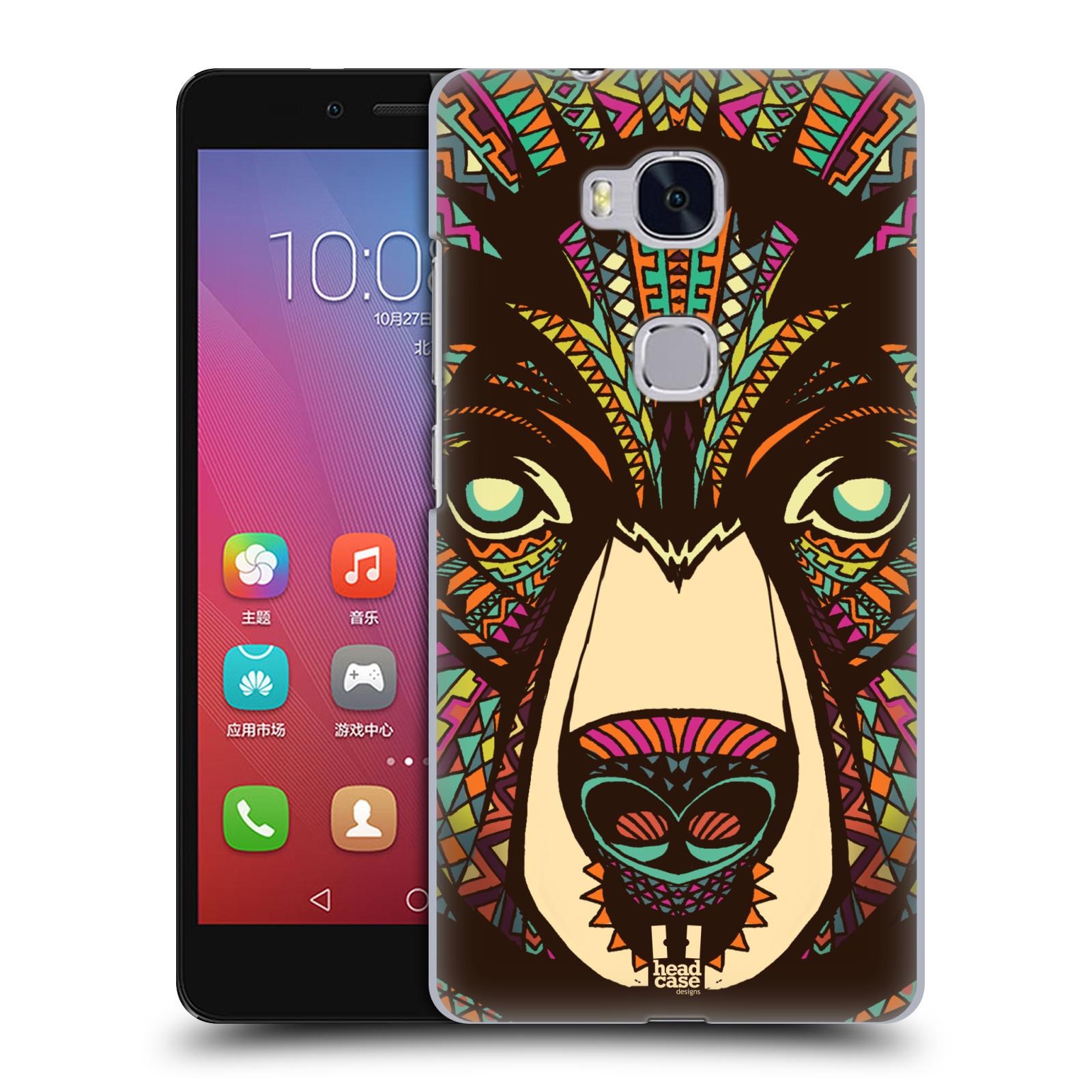 Plastové pouzdro na mobil Honor 5X HEAD CASE AZTEC MEDVĚD