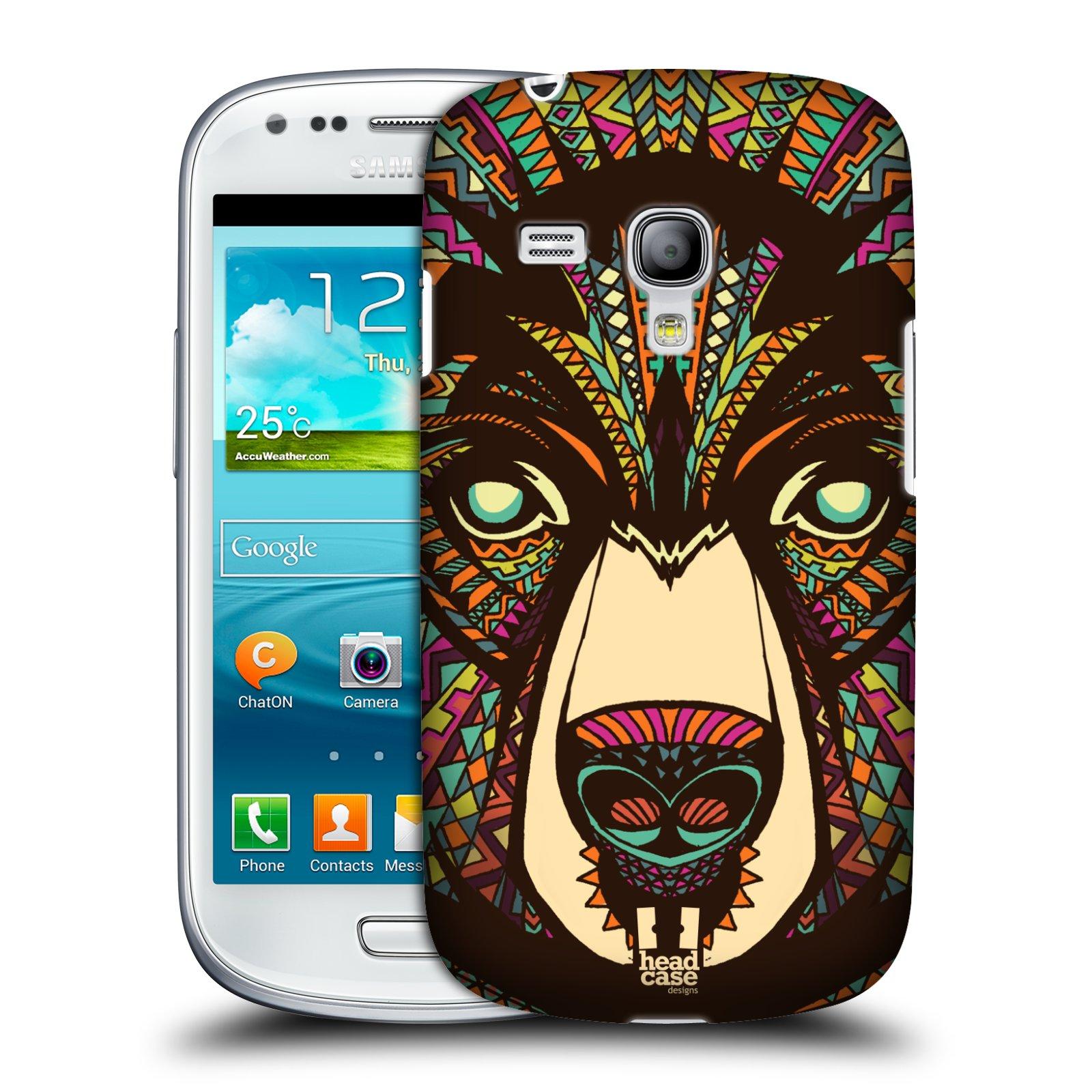 Plastové pouzdro na mobil Samsung Galaxy S III Mini HEAD CASE AZTEC MEDVĚD (Kryt či obal na mobilní telefon Samsung Galaxy S III Mini GT-i8190)