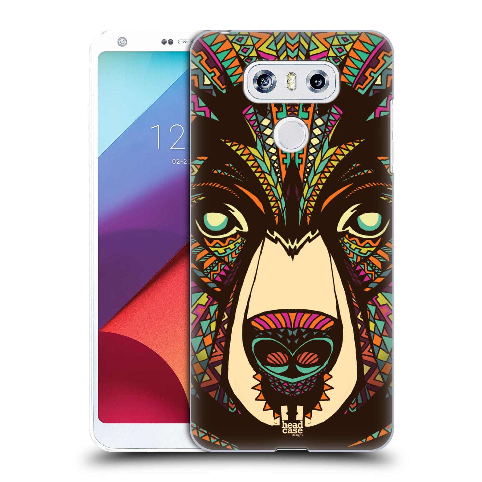 Plastové pouzdro na mobil LG G6 - Head Case AZTEC MEDVĚD