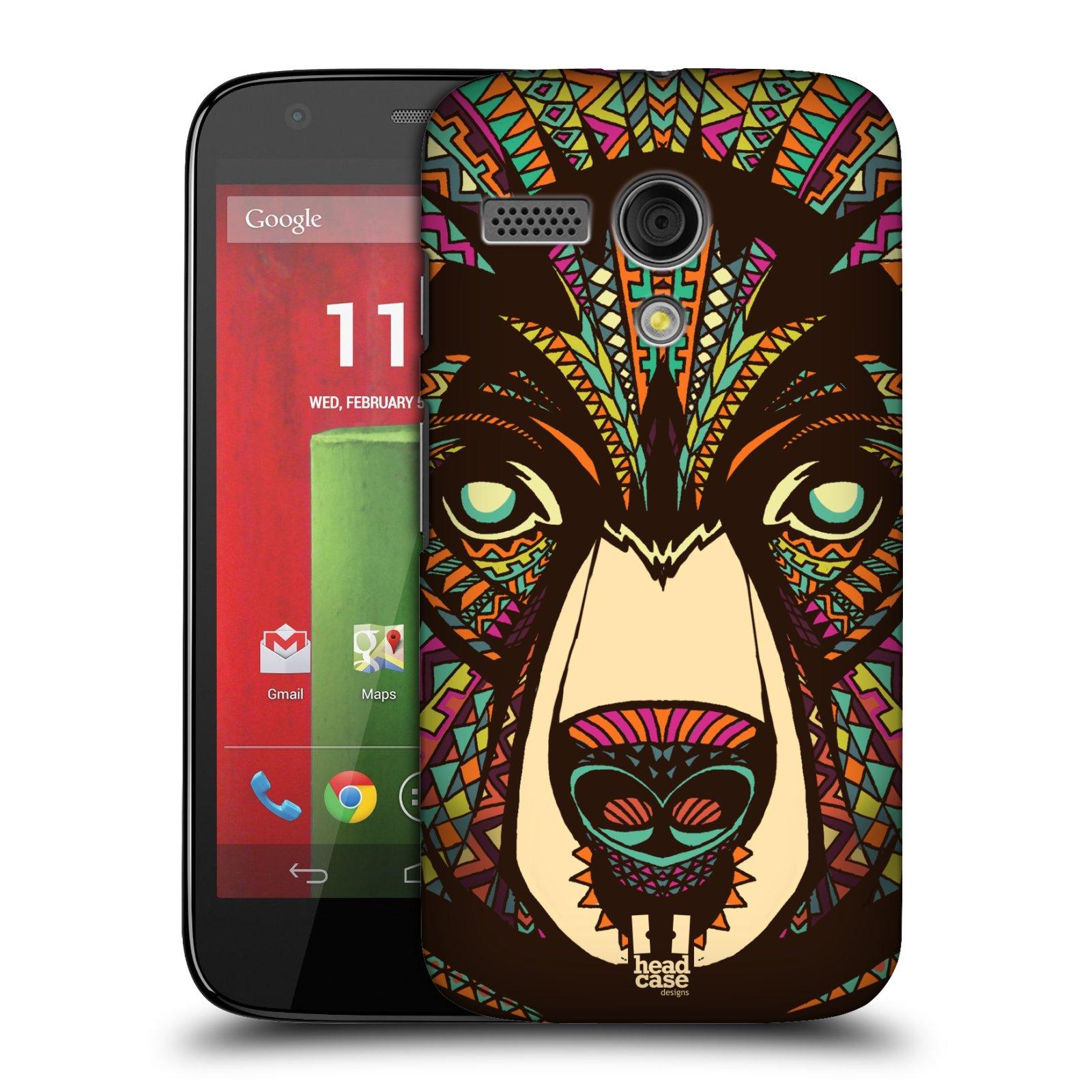 Plastové pouzdro na mobil Motorola Moto G HEAD CASE AZTEC MEDVĚD (Kryt či obal na mobilní telefon Motorola Moto G)