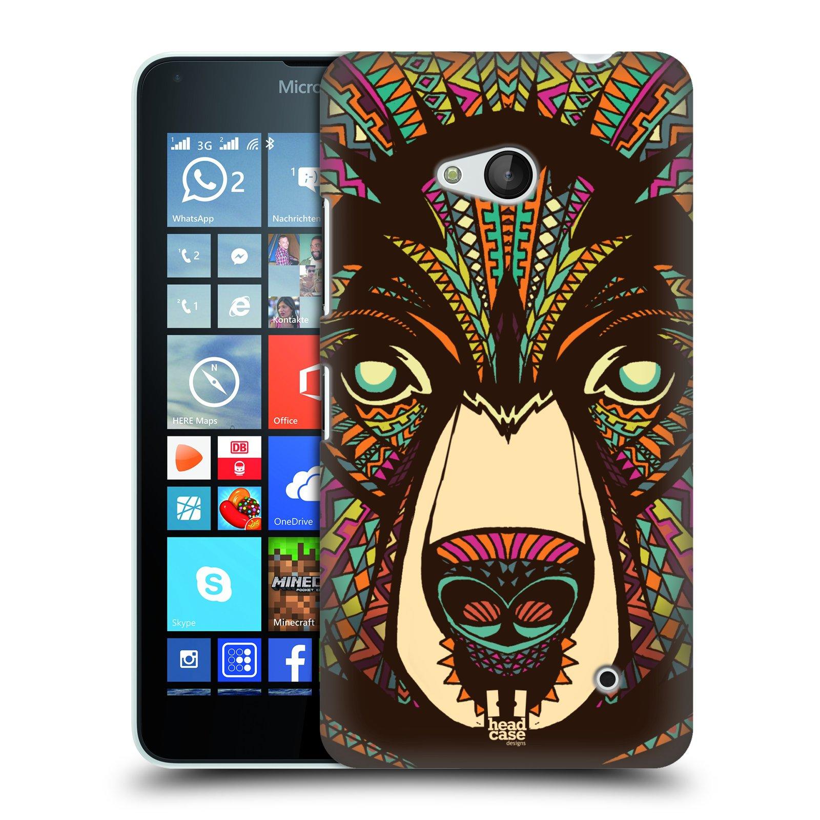 Plastové pouzdro na mobil Microsoft Lumia 640 HEAD CASE AZTEC MEDVĚD