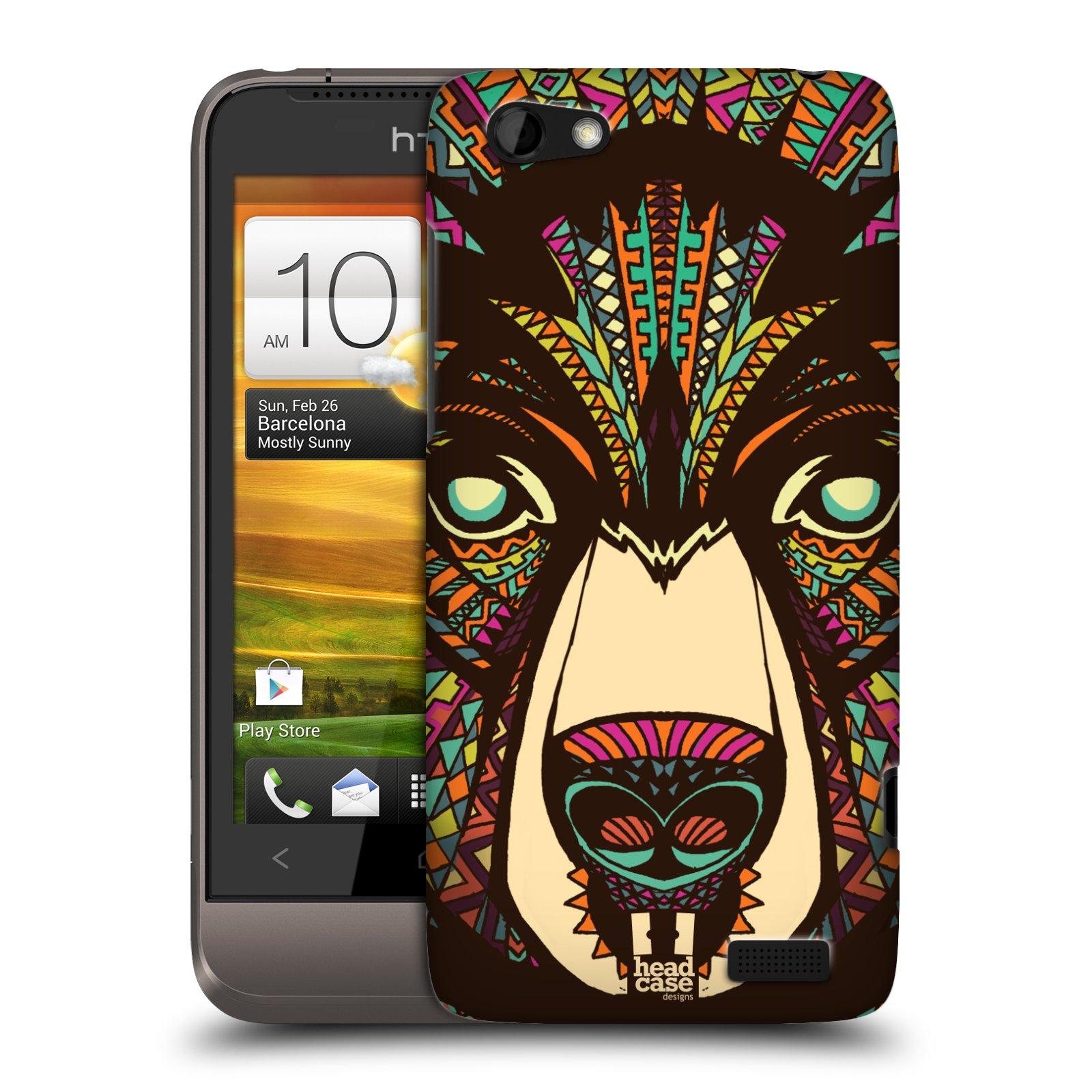 Plastové pouzdro na mobil HTC ONE V HEAD CASE AZTEC MEDVĚD (Kryt či obal na mobilní telefon HTC ONE V)