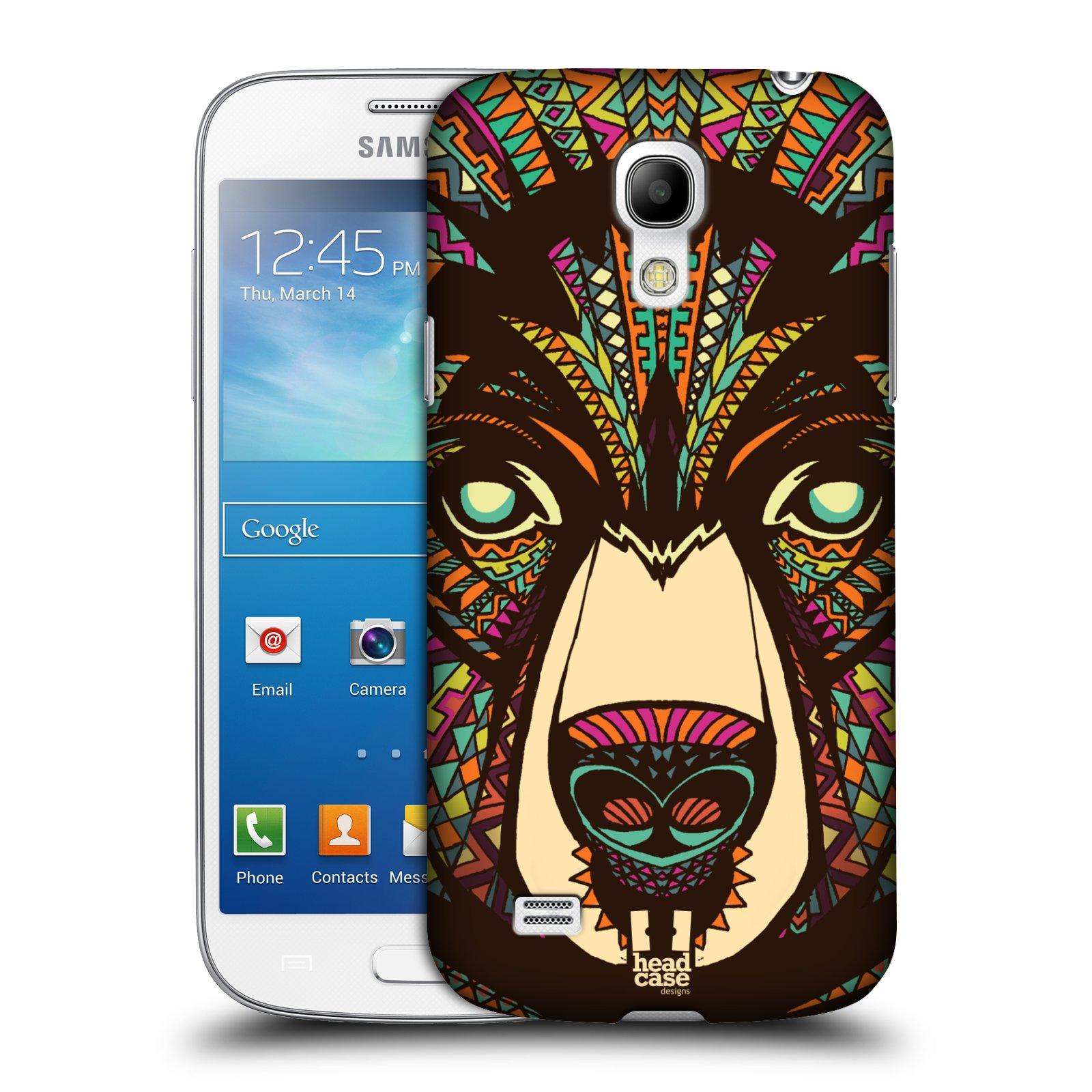 Plastové pouzdro na mobil Samsung Galaxy S4 Mini HEAD CASE AZTEC MEDVĚD