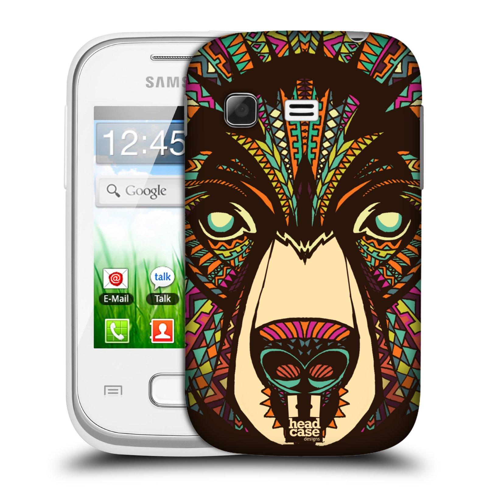 Plastové pouzdro na mobil Samsung Galaxy Pocket HEAD CASE AZTEC MEDVĚD (Kryt či obal na mobilní telefon Samsung Galaxy Pocket GT-S5300)