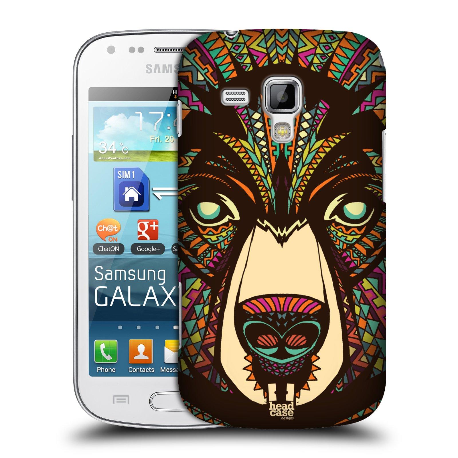 Plastové pouzdro na mobil Samsung Galaxy S Duos HEAD CASE AZTEC MEDVĚD (Kryt či obal na mobilní telefon Samsung Galaxy S Duos GT-S7562)