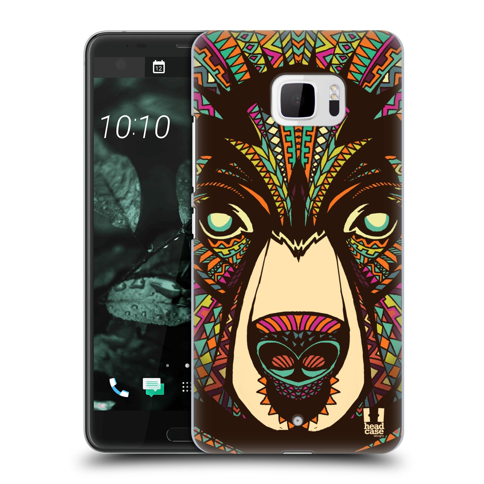Plastové pouzdro na mobil HTC U Ultra Head Case - AZTEC MEDVĚD (Plastový kryt či obal na mobilní telefon HTC U Ultra (99HALT015-00))