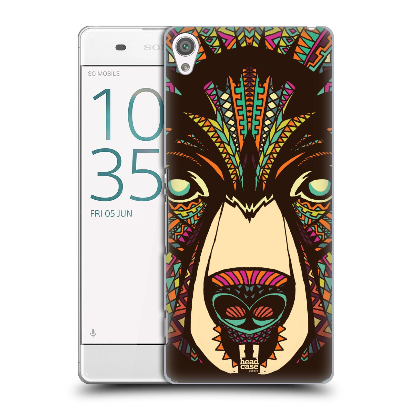 Plastové pouzdro na mobil Sony Xperia XA HEAD CASE AZTEC MEDVĚD