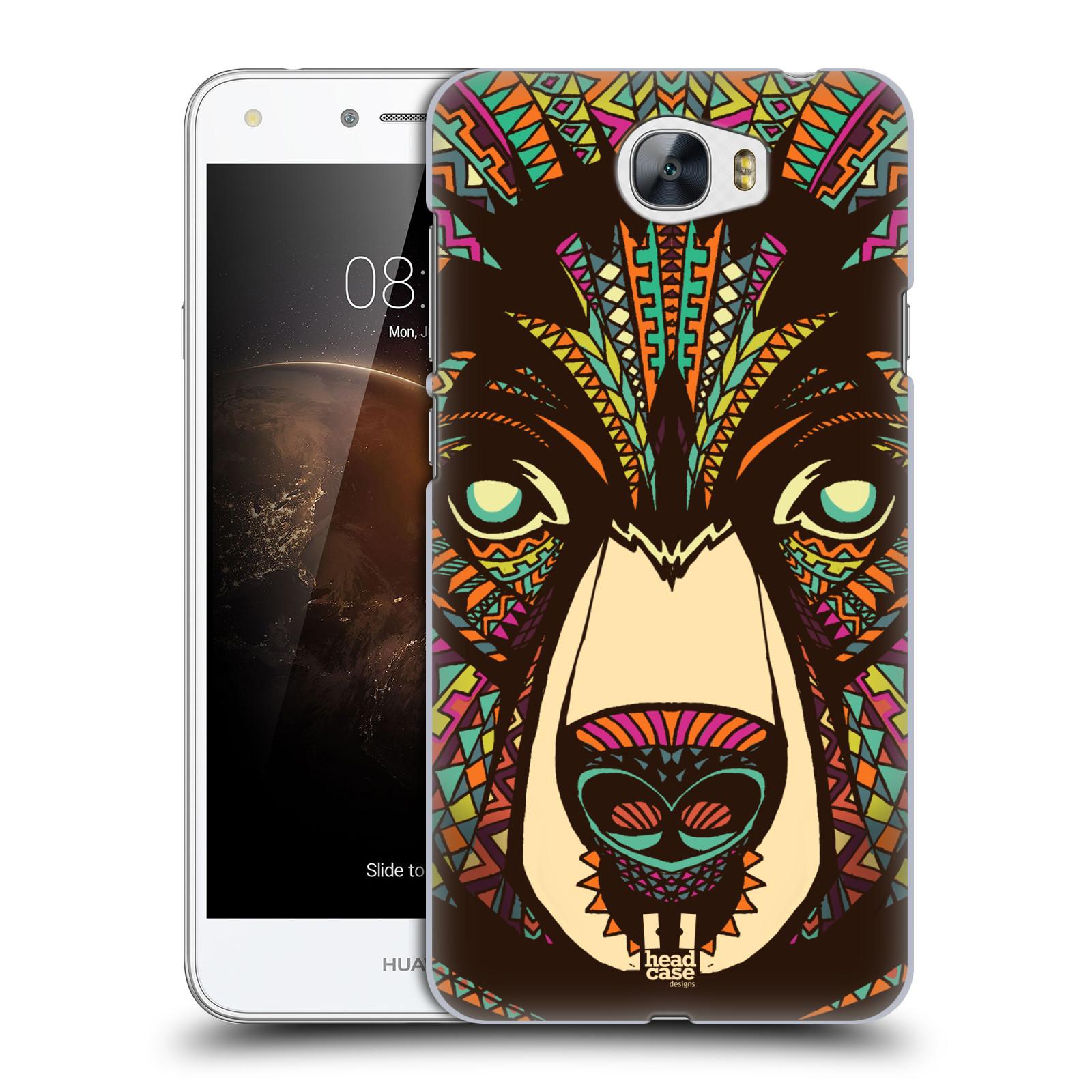 Plastové pouzdro na mobil Huawei Y5 II HEAD CASE AZTEC MEDVĚD