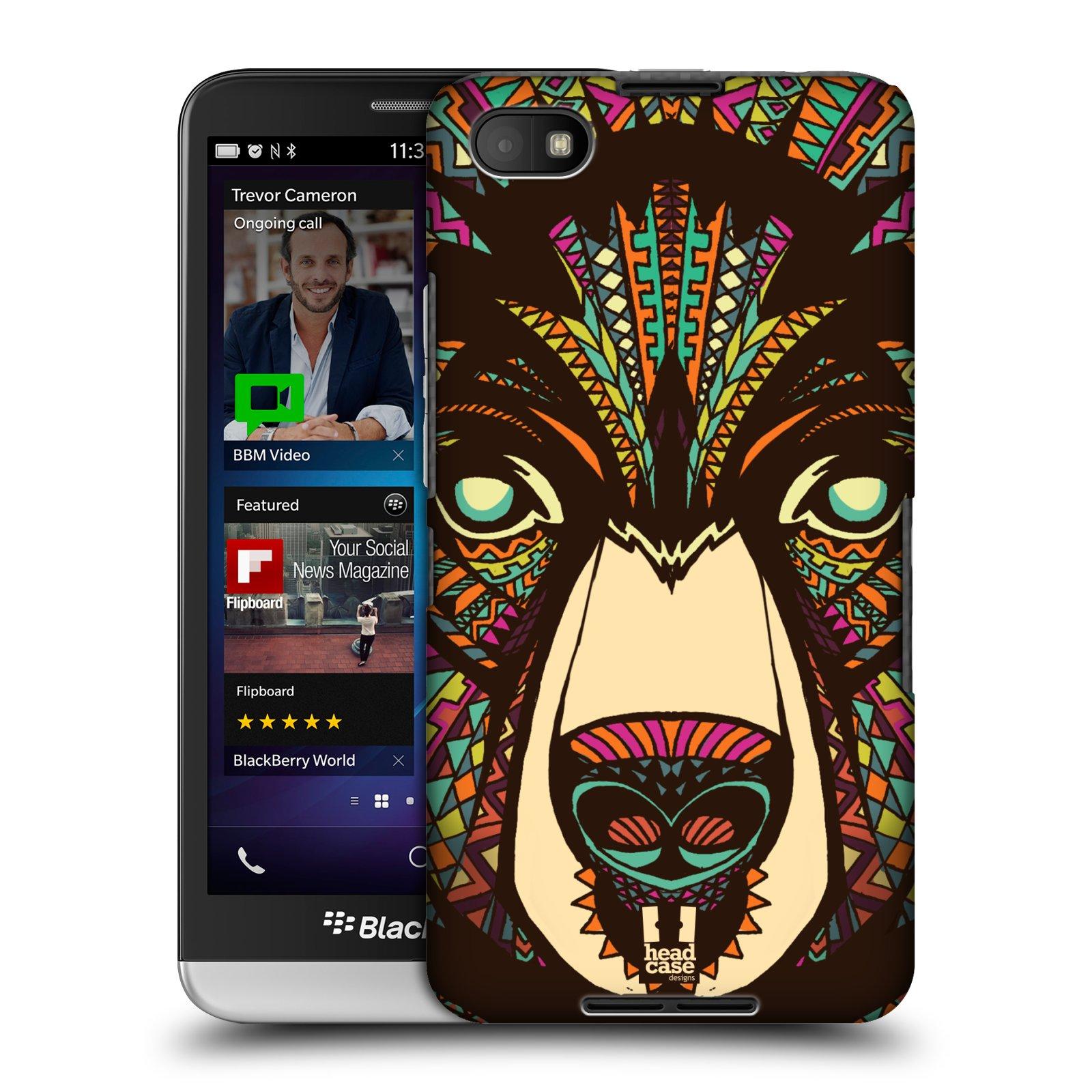 Plastové pouzdro na mobil Blackberry Z30 HEAD CASE AZTEC MEDVĚD (Kryt či obal na mobilní telefon Blackberry Z30)
